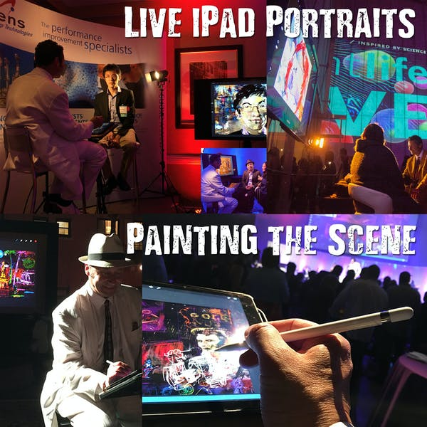 Posted by Jeremy Sutton Live Event Painting - A Entertainment professional