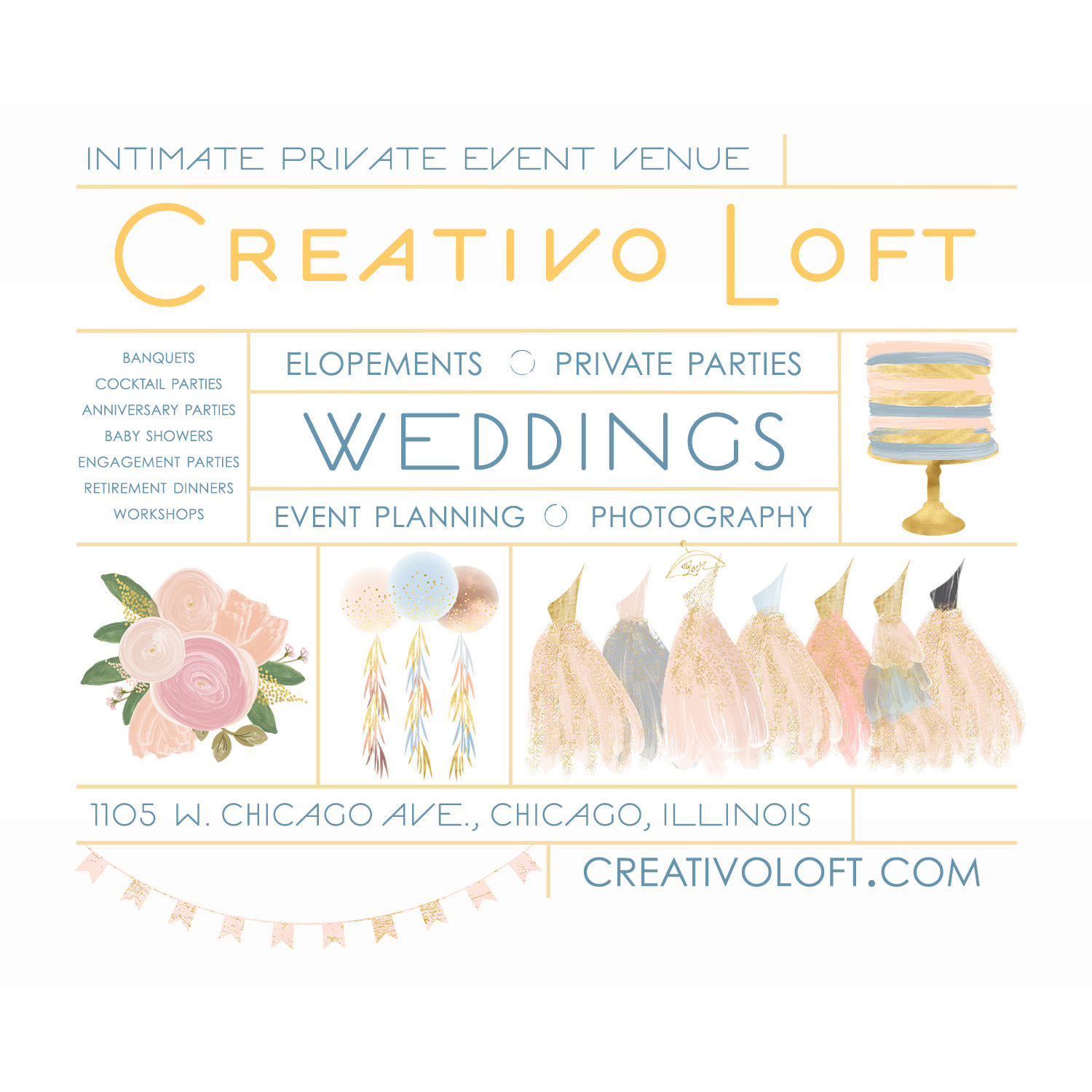 Baby Shower: Elephants & Umbrellas - Creativo Loft
