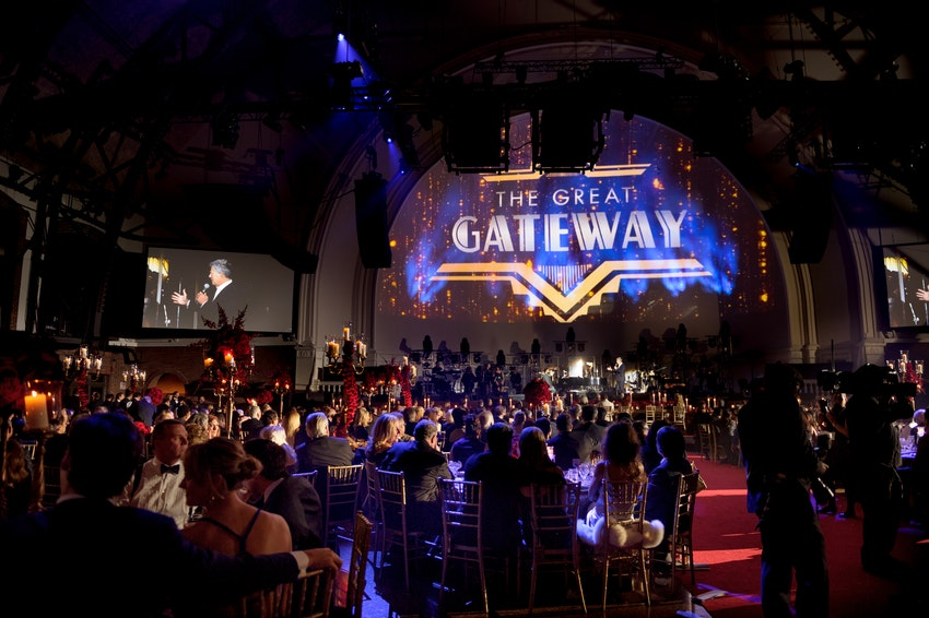 THE GREAT GATEWAY AT CHICAGO'S NAVY PIER GRAND BALLROOM  WHAT A EVENING AT THE GATEWAY FOR CANCER RESEARCH IN THE GRAND BALLROOM AT NAVY PIER CHICAGO WITH A 1,000 GUESTS WHO RAISED OVER $4.1 MILLION DOLLARS AND STILL COUNTING!  THE BEAUTIFUL DECOR BY RISHI PATEL AND HIS TEAM AT HMR DESIGNS! THE SHOW WAS DIRECTED BY THE TALENTED @MIKE RAVENHILL CEO OF THE DAVID FOSTER FOUNDATION.  WITH A CRAZY TALENTED ENTERTAINMENT LINEUP BEGINNING THE EVENING WITH MAGGIE SPEAKS, CITY OF CHICAGO PIPE BAND, AND, WILLIAM JOSEPH AND SANDY CAMERON, AND A FLIGHT BY CHALLENGER THE EAGLE, AND THE NATIONAL ANTHEM SANG BY KELLY LEVESQUE.  DINNER WAS AMAZING, THEN ENTERTAINMENT CONTINUED WITH DAVID FOSTER, THE TENORS, PETER CETERA, SINBAD, MICHAEL BOLTON, CARLY RAE JEPSEN, AND CEELO GREEN!  AND TO TOP THE NIGHT OFF WITH AN AFTER PARTY STARRING RHAPSODY ORCHESTRA FROM MONTREAL THAT KEPT US ALL ON THE DANCE FLOOR UNTIL 3:30AM.