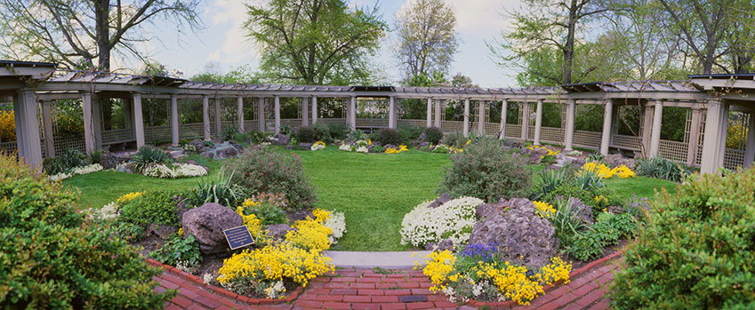 The Rock Garden and Grape Arbor - The George Eastman Museum
