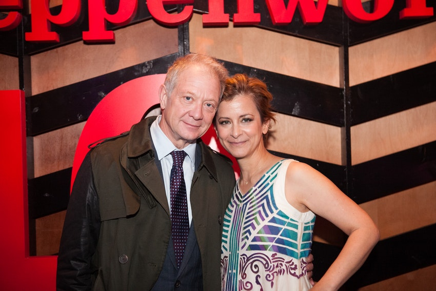 Steppenwolf Co-Founder Jeff Perry with Steppenwolf Artistic Director and 2016 Gala Co-Chair Anna D. Shapiro.