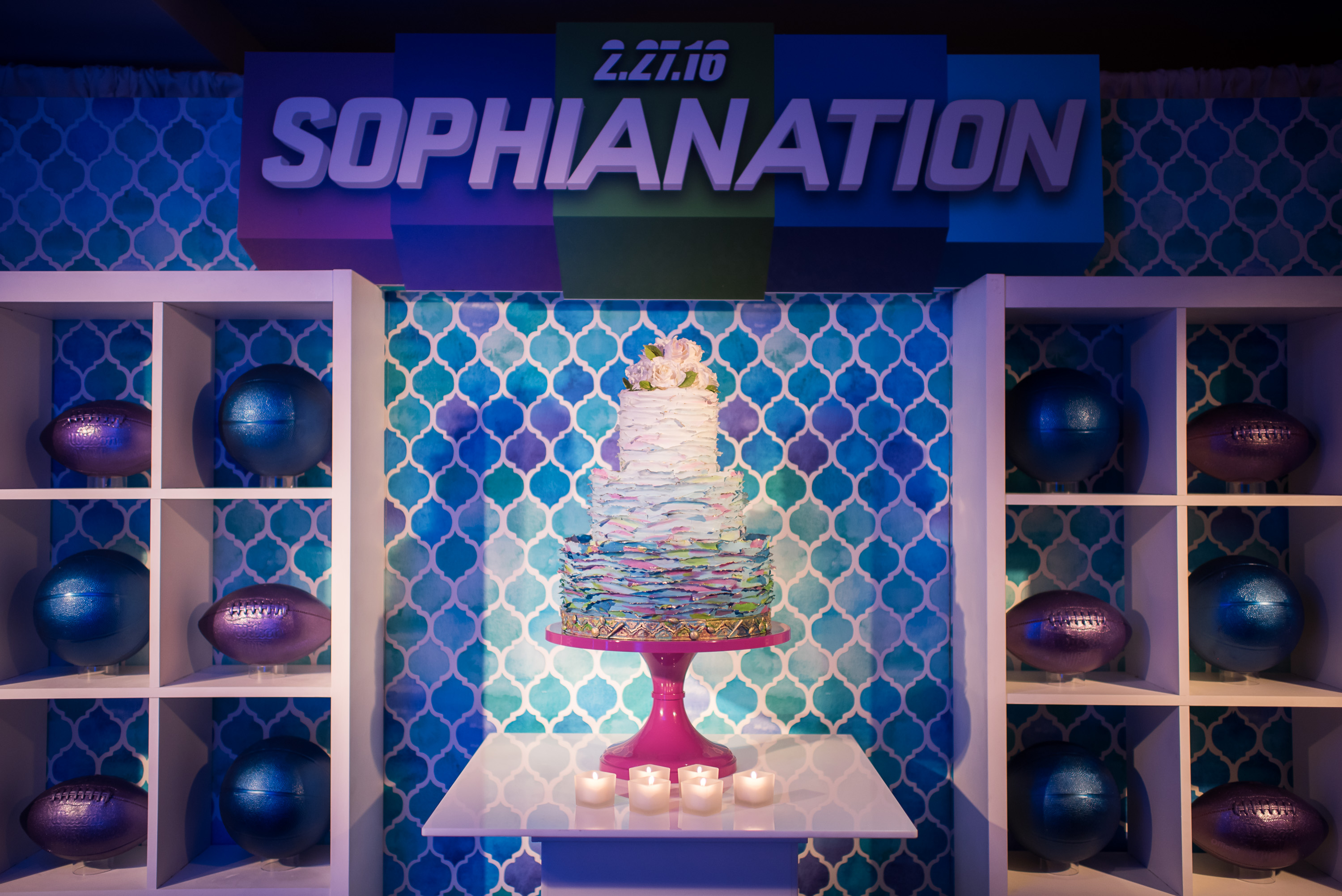 SportsNation Theme Bat Mitzvah - Magnolia Bluebird design & events