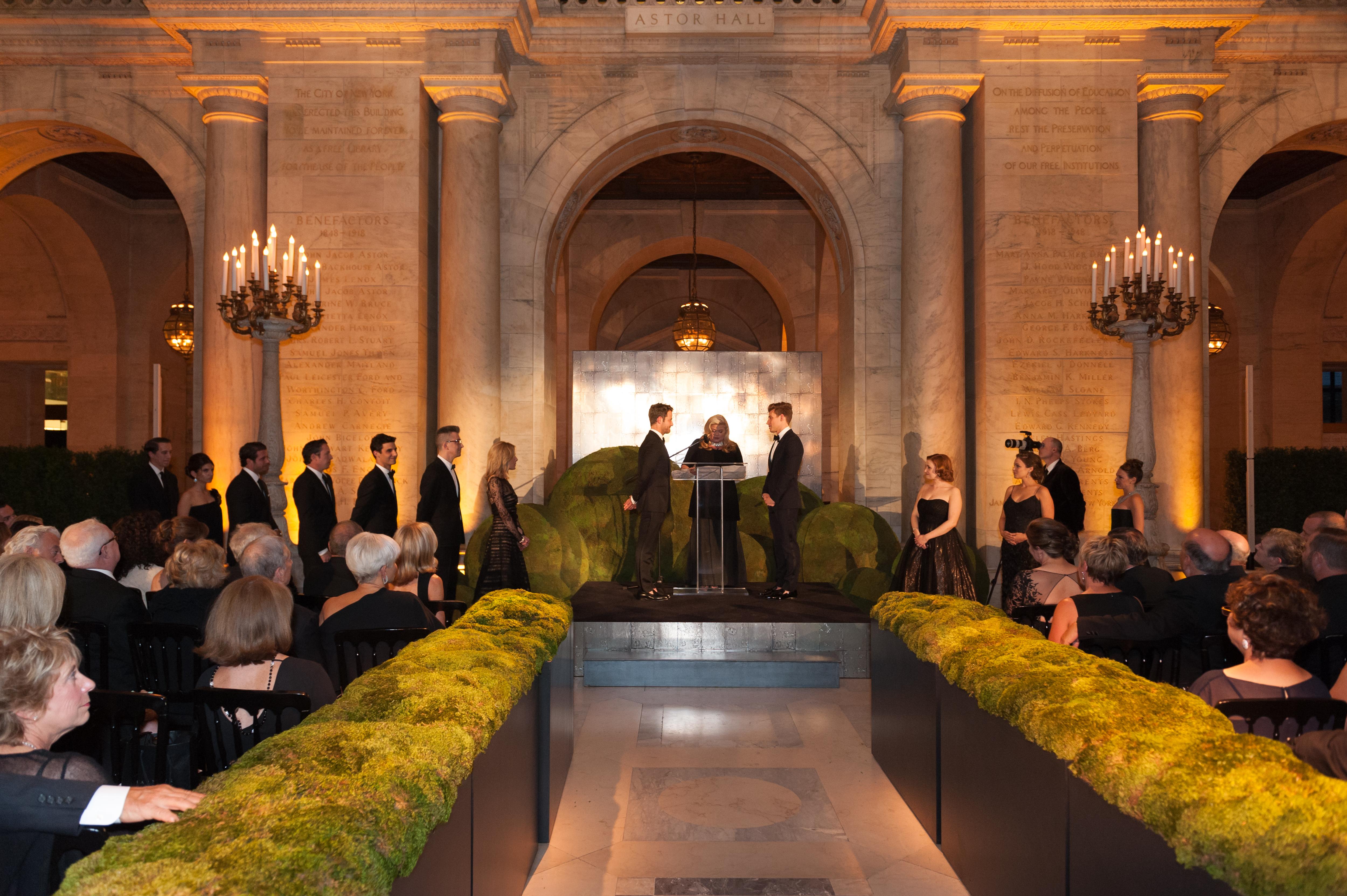 Wedding at New York Public Library - Marcy Blum Associates