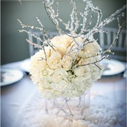 The theme of the evening was a quiet storm. Centerpieces reflected a warm elegance welcoming guests.