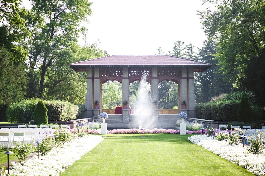 Outdoor Armour House wedding by La Belle Fleur Events.