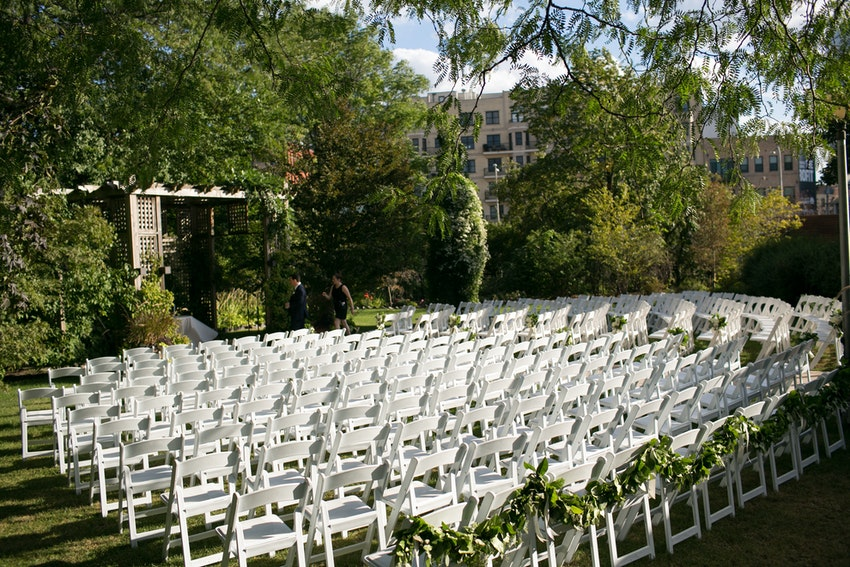 Outdoor Wedding at Galleria Marchetti by La Belle Fleur Events.