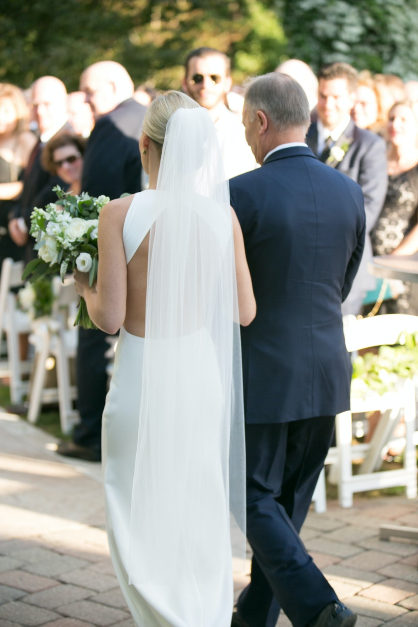 Outdoor Wedding at Galleria Marchetti by La Belle Fleur Events.
