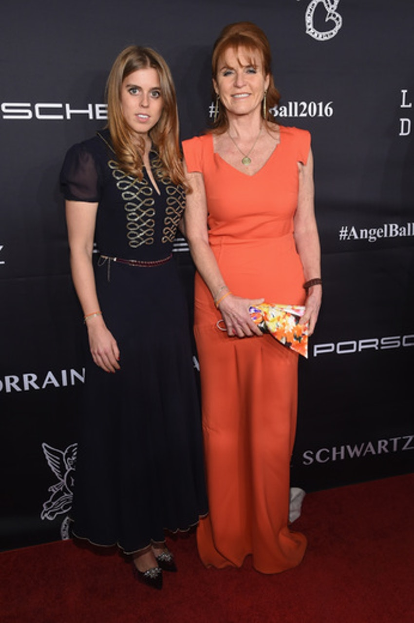 Duchess of York Sarah Ferguson and Princess Beatrice of York attend the 2016 Angel Ball hosted by Gabrielle's Angel Foundation For Cancer Research on November 21, 2016 in New York City.