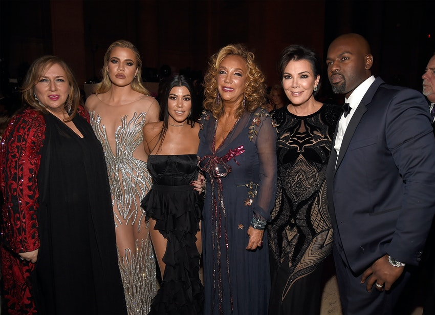 Khloe Kardashian, Kourtney Kardashian, Denise Rich, Kris Jenner and Corey Gamble