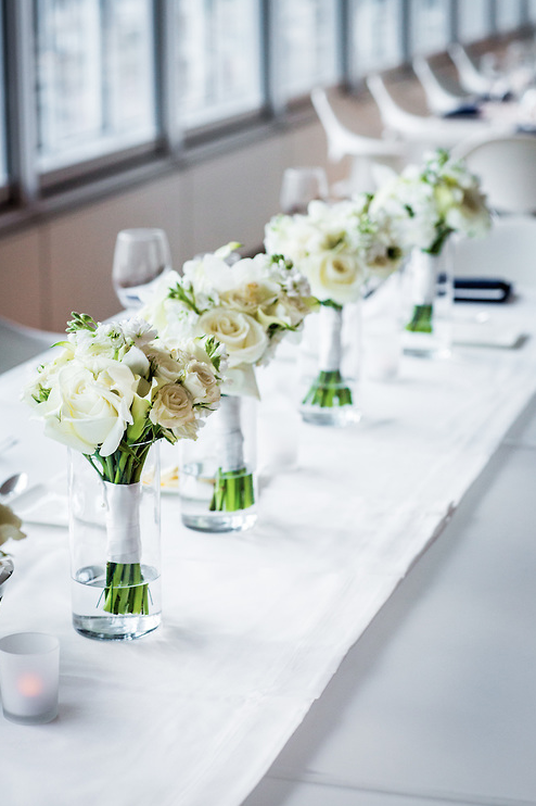 Modern White Wedding at Chicago Art Institute. Partial planning by Wrap It Up Parties.