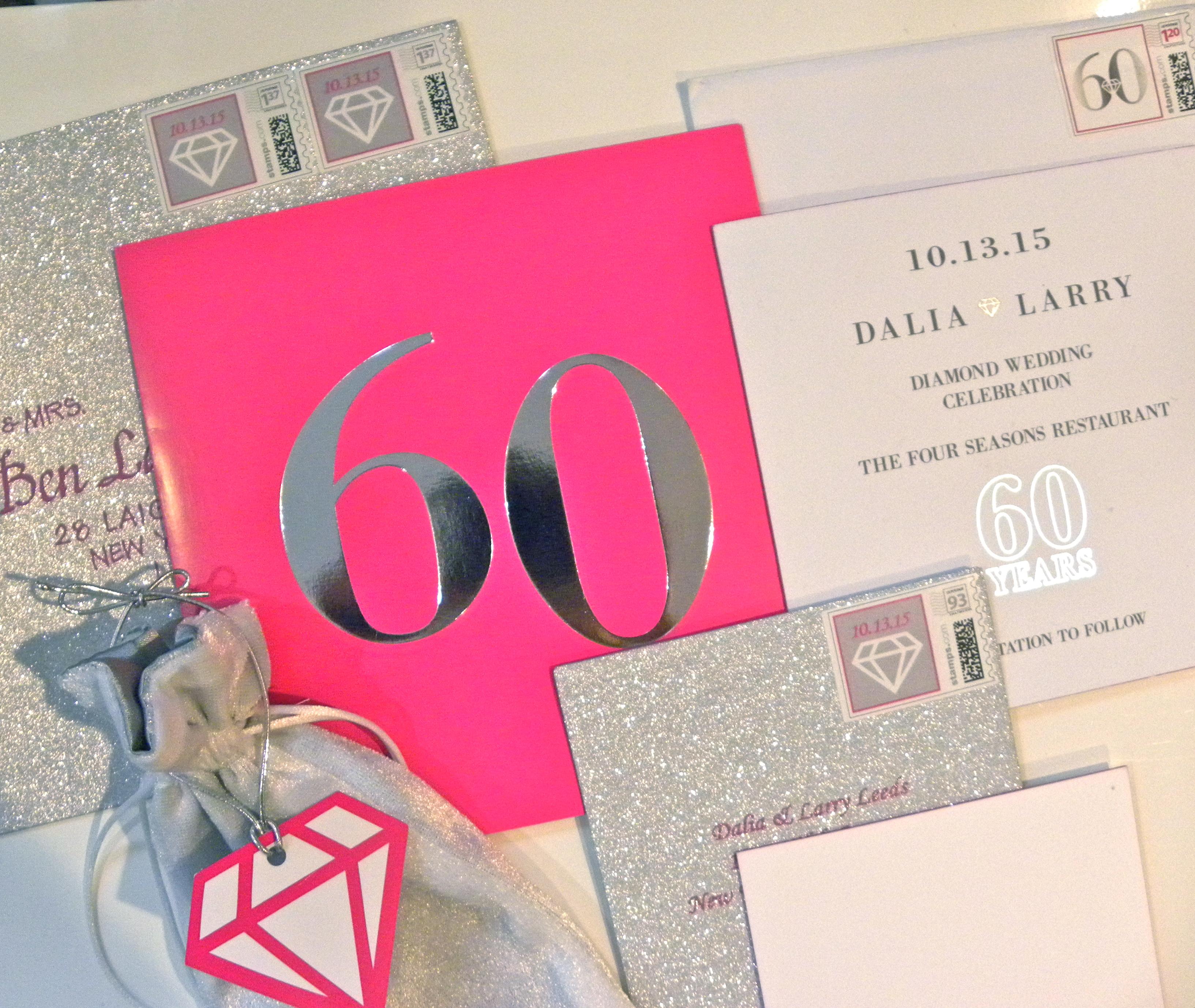 60th Wedding Anniversary Invitation Suite
