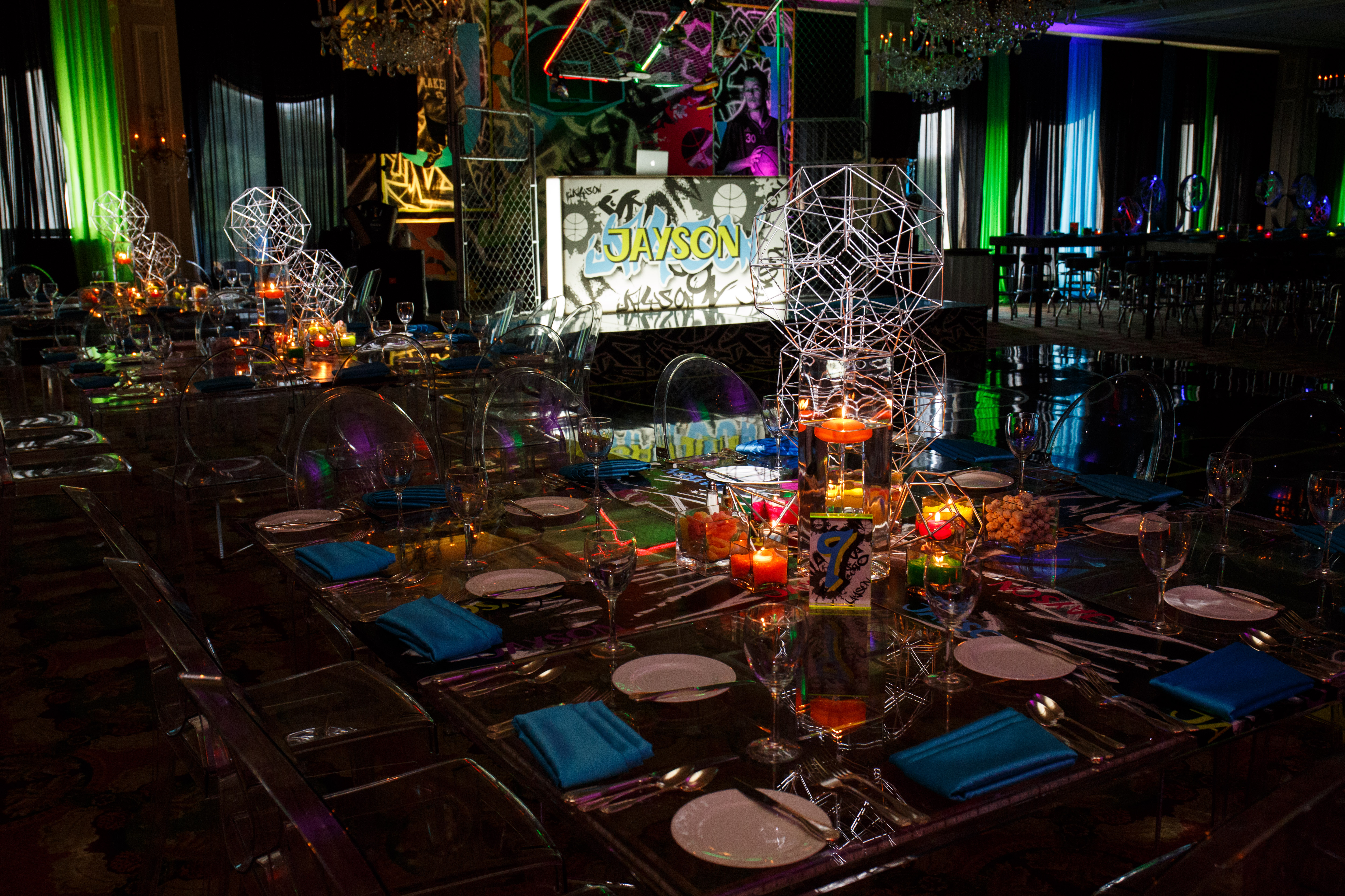 Epic events street ball bar mitzvah partyslate for Decoration 02100