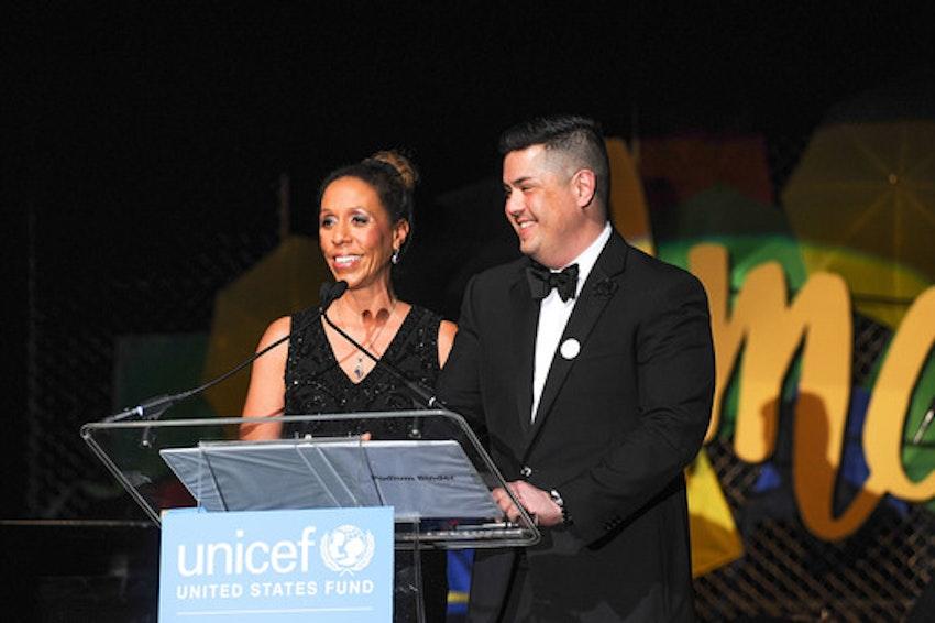 2016 UNICEF's Hope Gala Co-Chairs Kim K.W. Rucker and Mark Mitsukawa