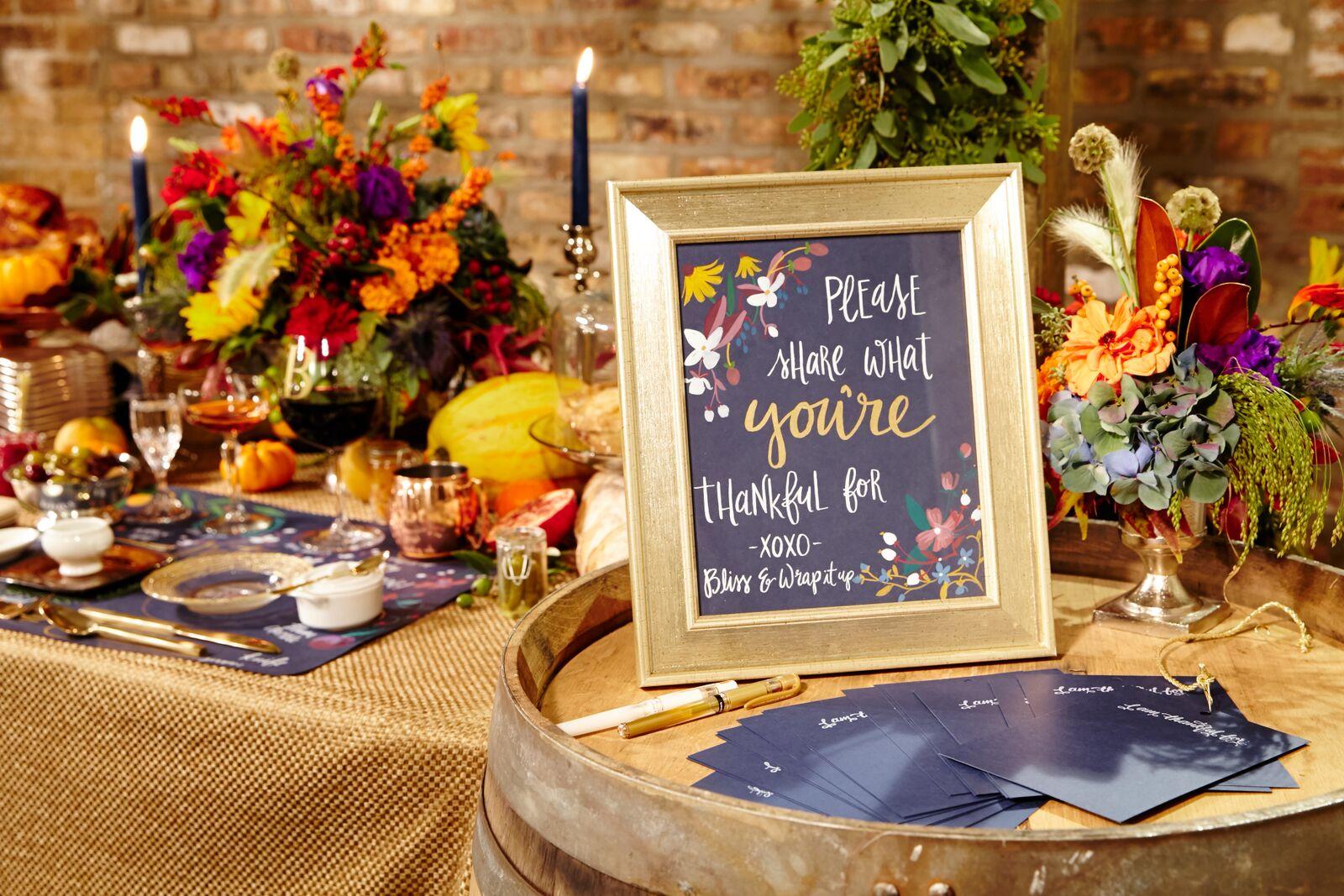 """""""Friendsgiving"""" Dinner Celebration - Bliss Weddings & Events"""