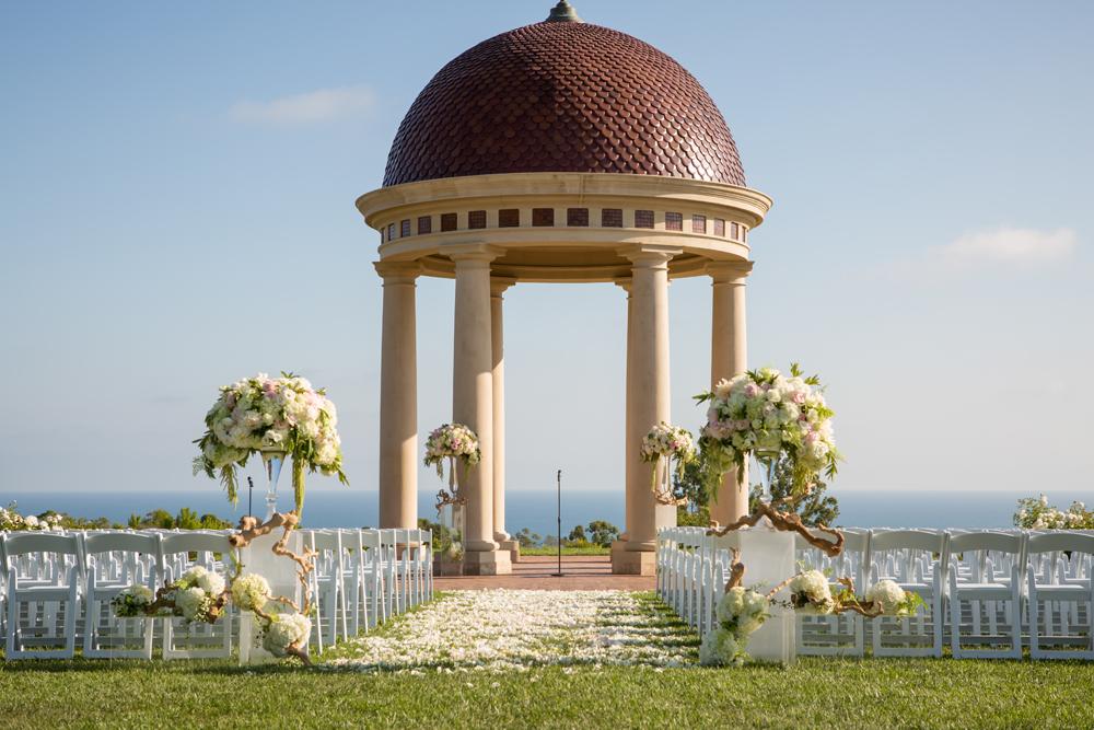 Pink + Green Pelican Hill Wedding - Luxe Linen