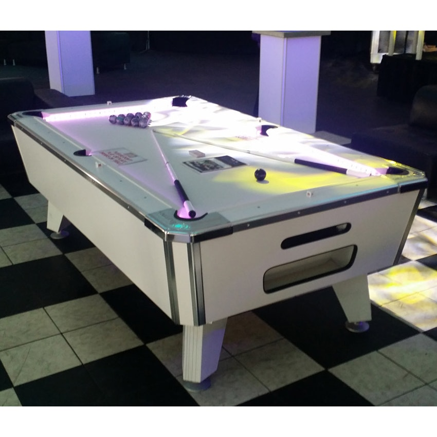 Party Pals LED White Pool Table PartySlate - White billiard table