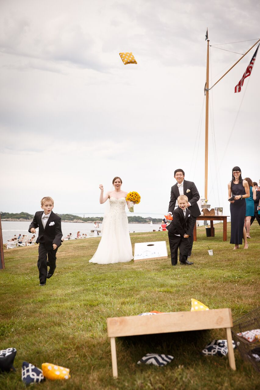 Navy & Yellow Wedding on the Lawn - Michelle Rago Destinations