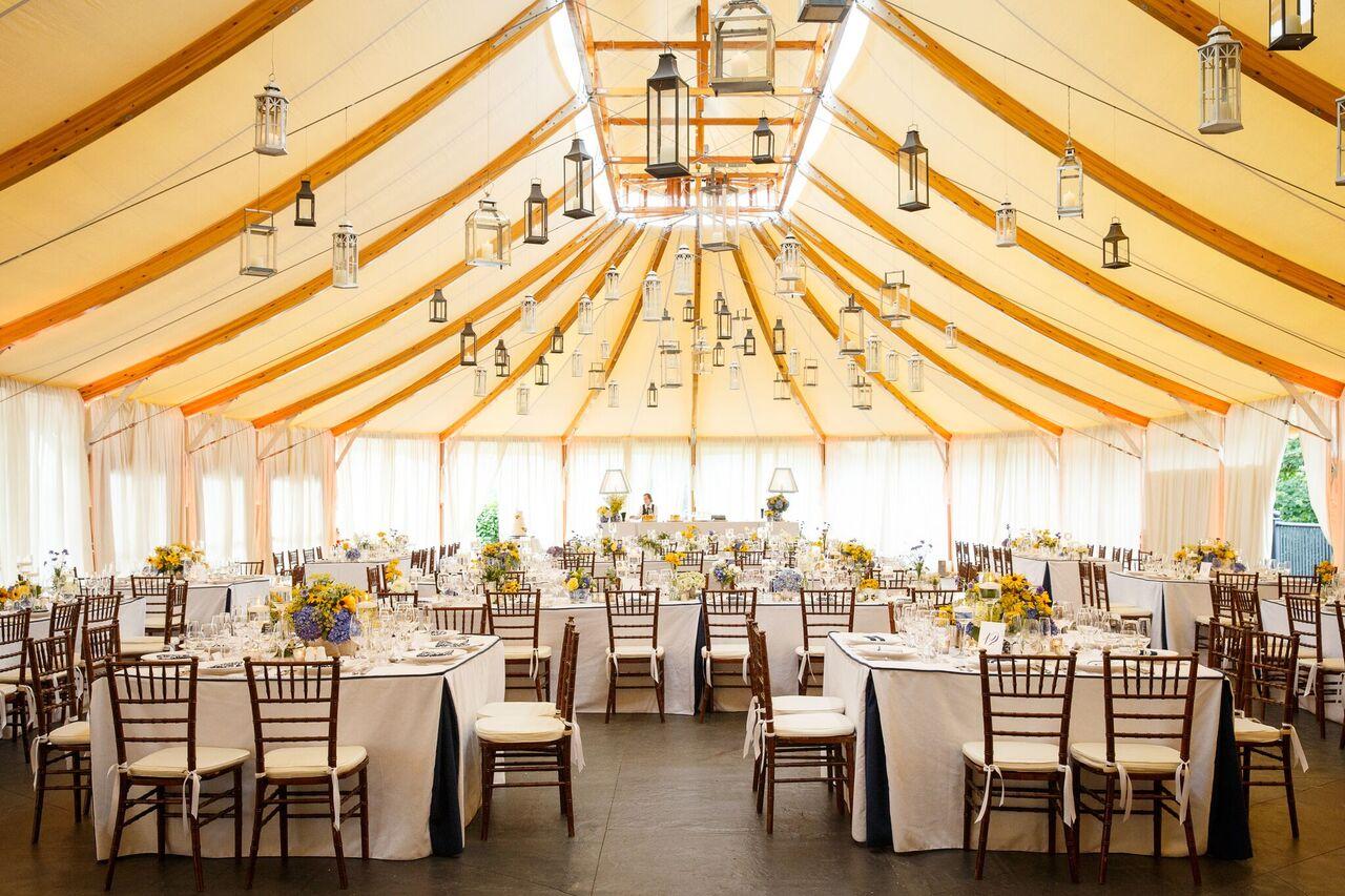 Navy & Yellow Wedding on the Lawn - Michelle Rago Destinations