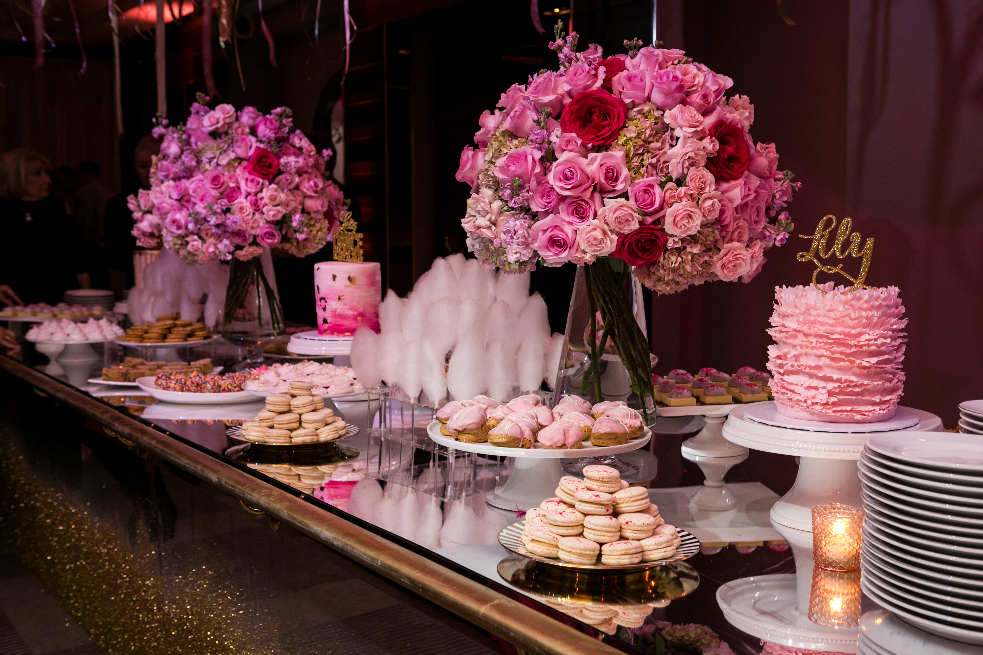 Ballet Pink Bat Mitzvah - Magnolia Bluebird design & events