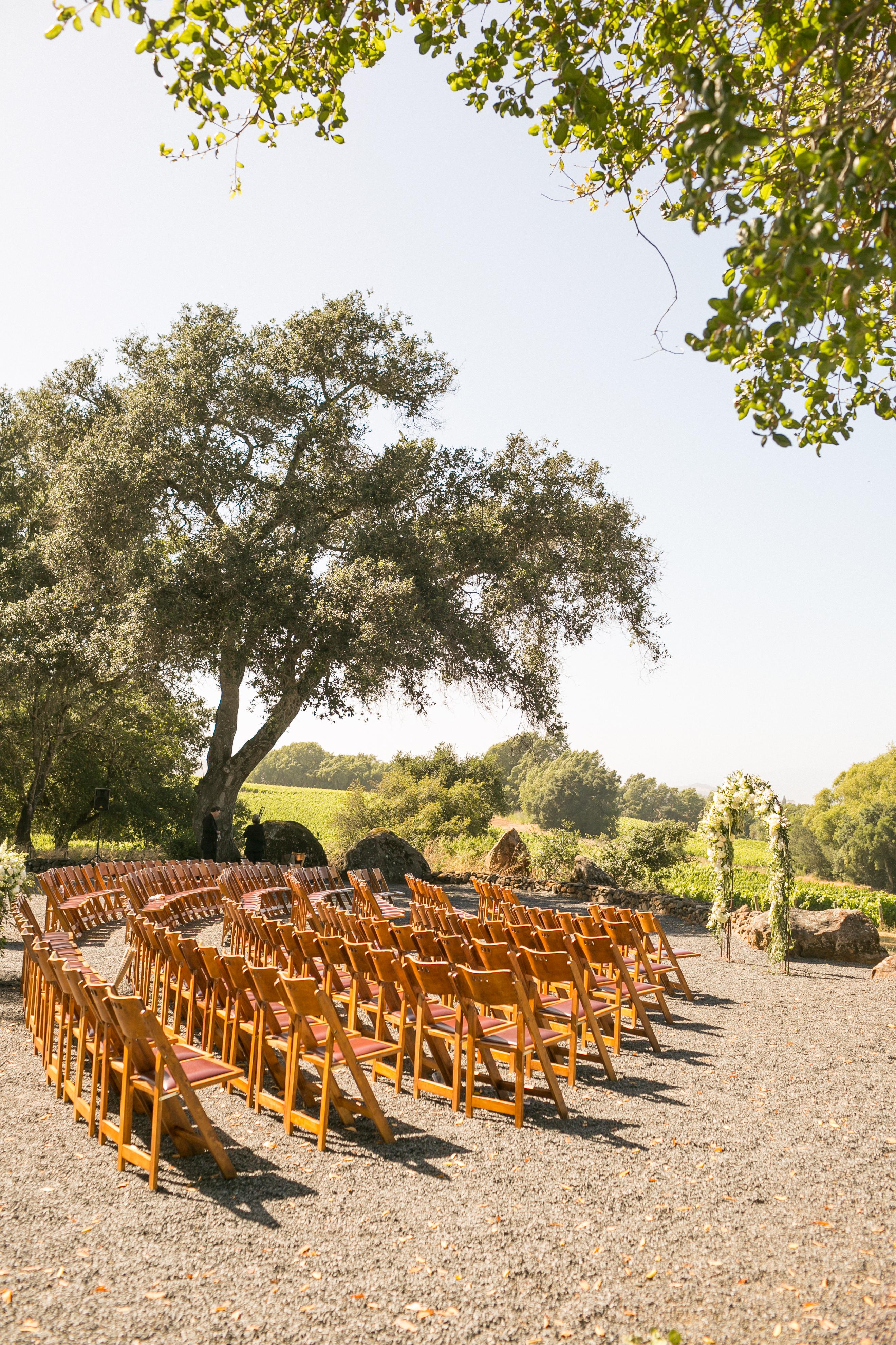 Outdoor White Wedding - Bright Event Rentals