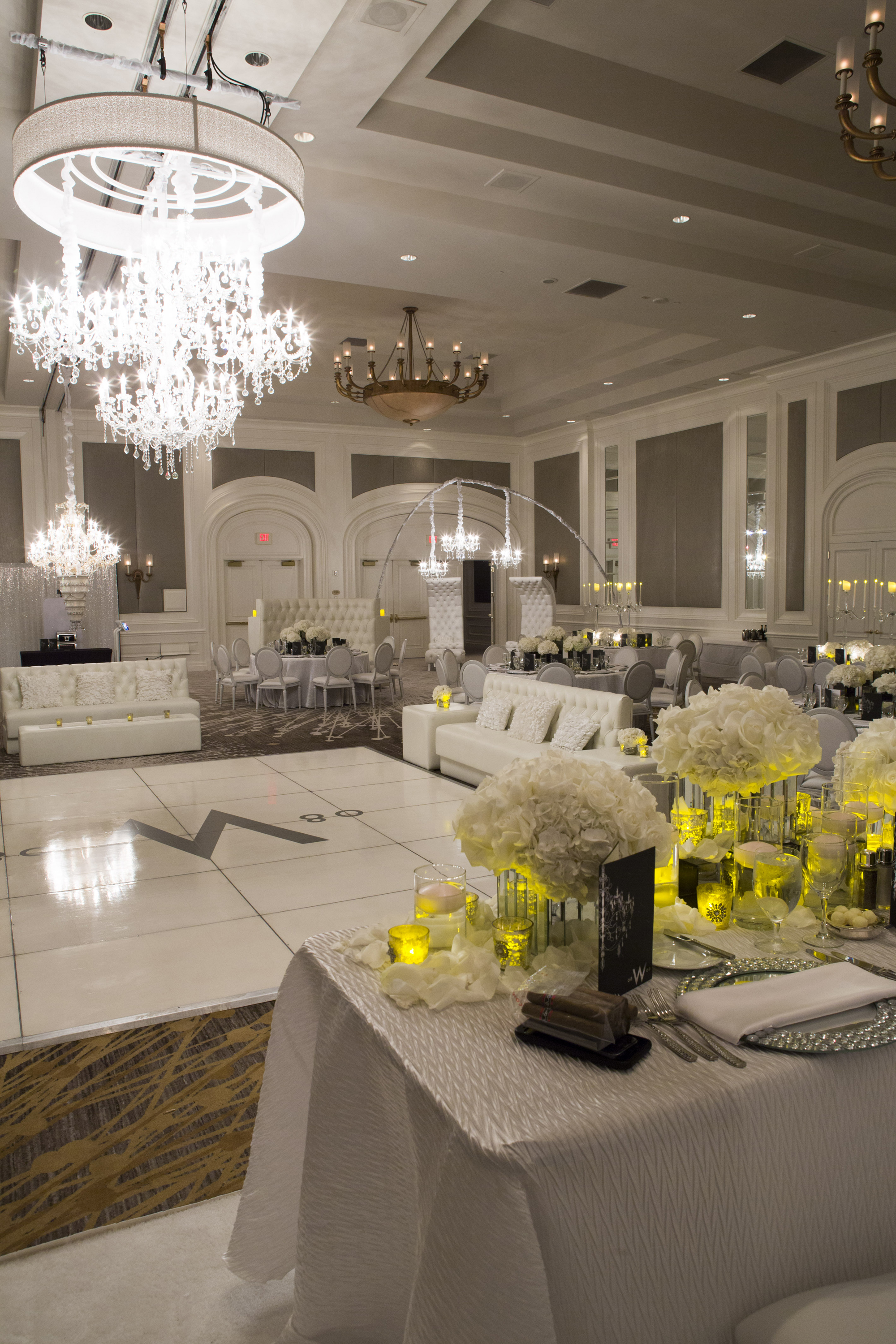 Modern White Four Seasons Wedding - Destinations by Design