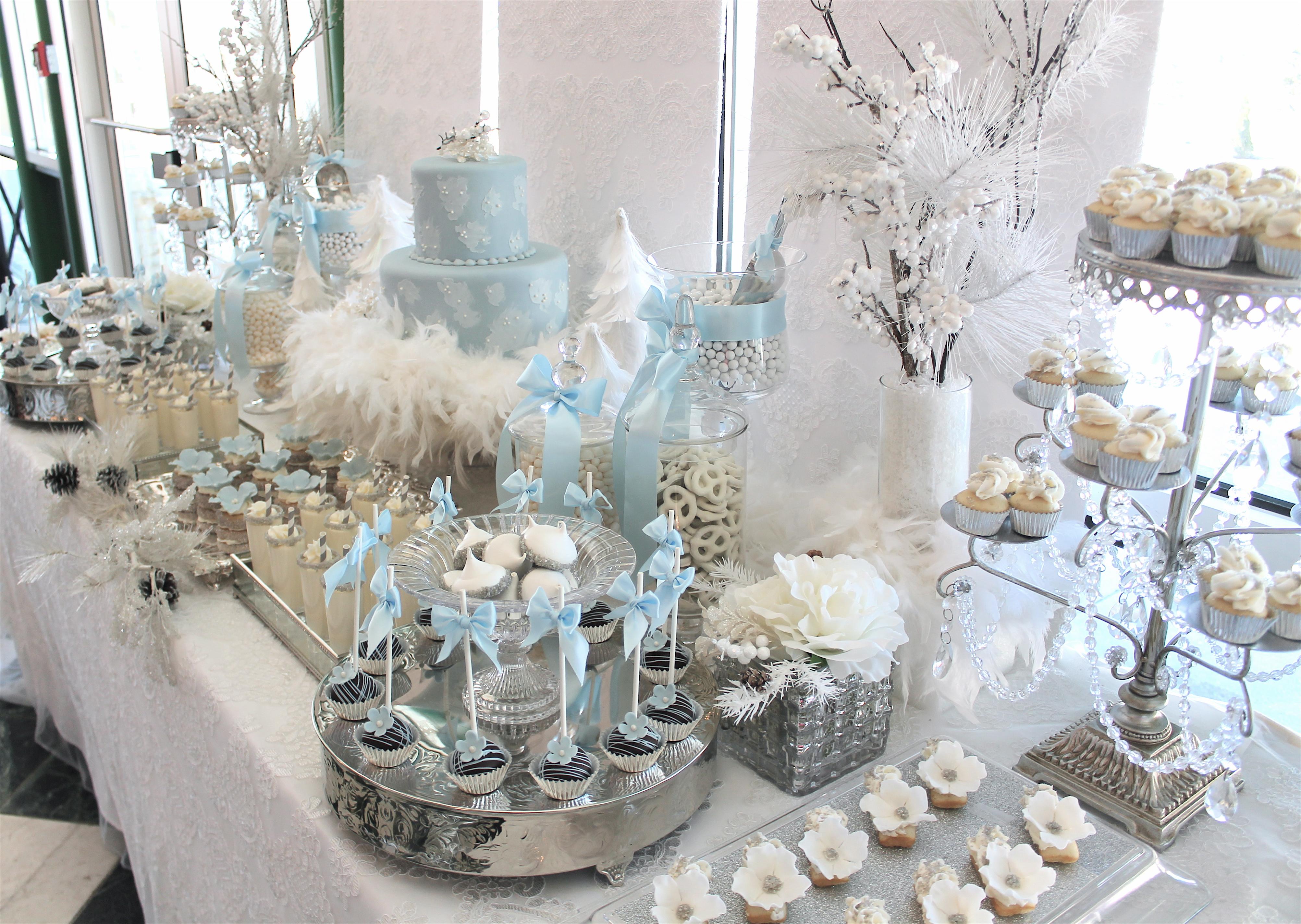 Sweet Soirees | Winter Wonderland Dessert Table | PartySlate
