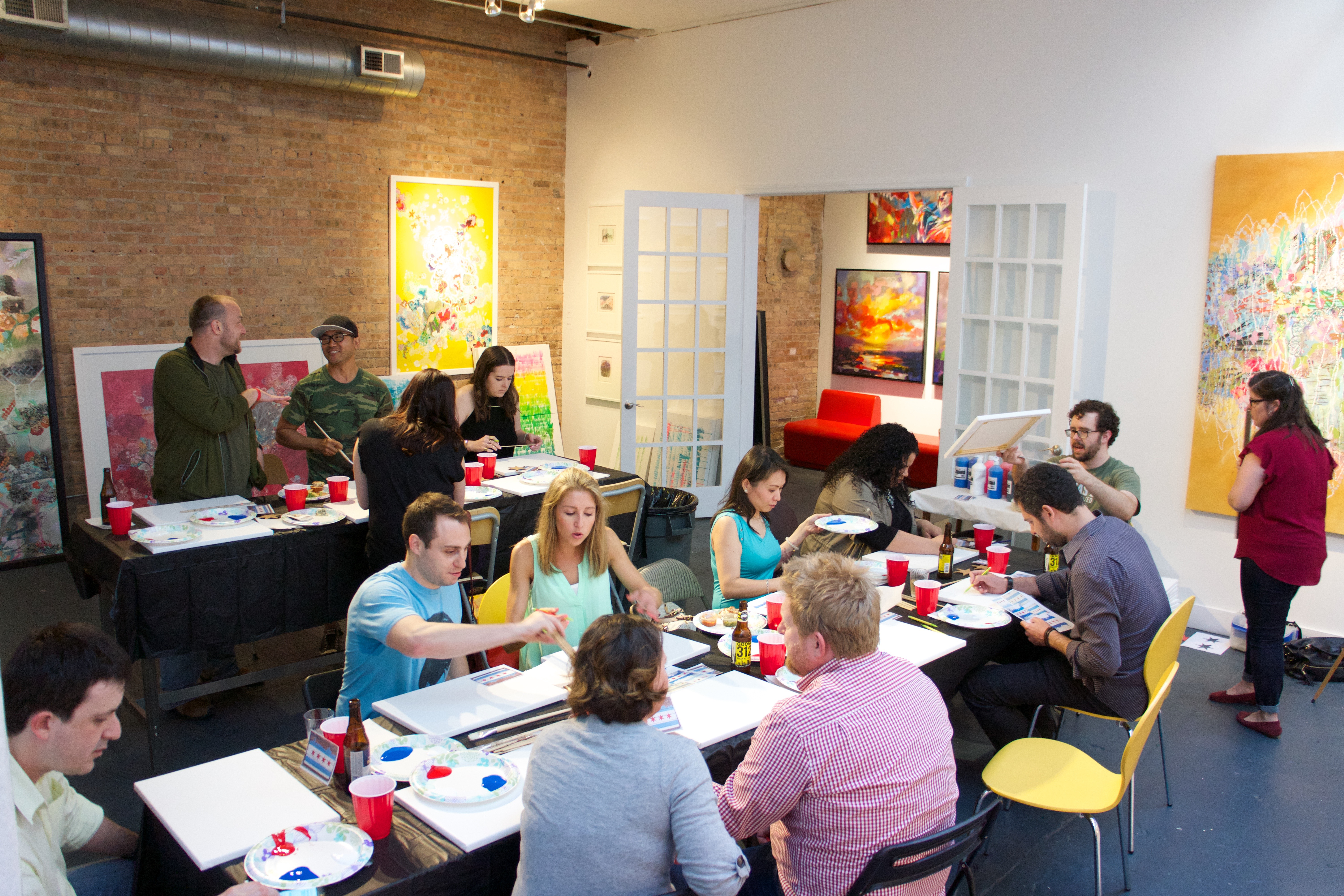 iCanvas company paint party - Fulton Market Gallery
