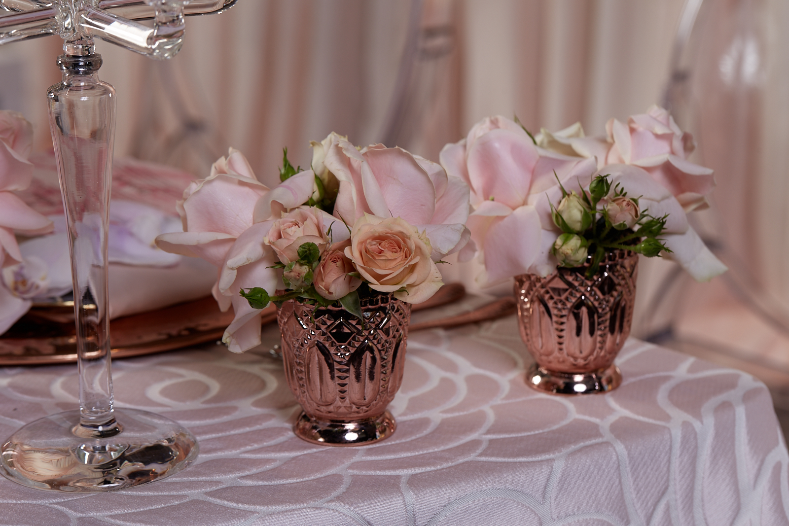 Sweet Heart Table - Blush and Rose Gold
