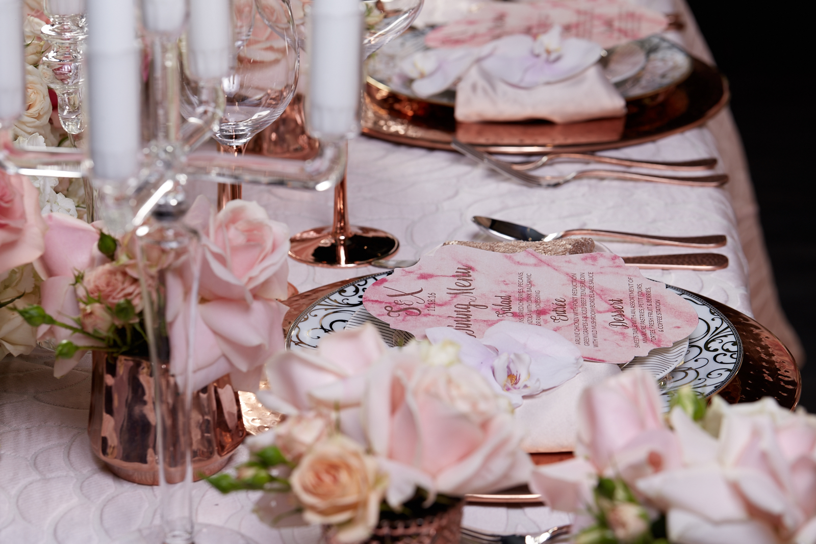 Sweetheart Table - Rose Gold and Blush