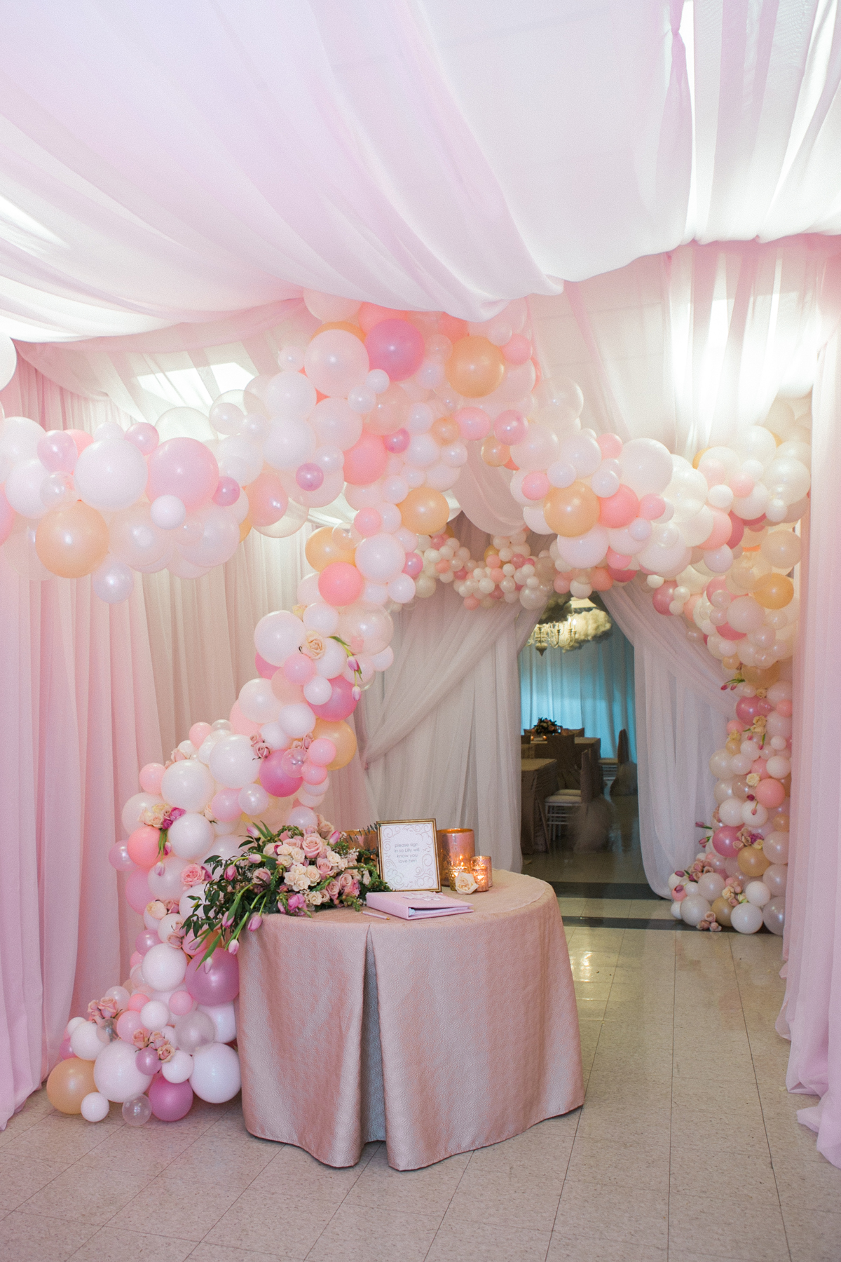 Soft Pink & White Baby Shower - Christopher Confero Design