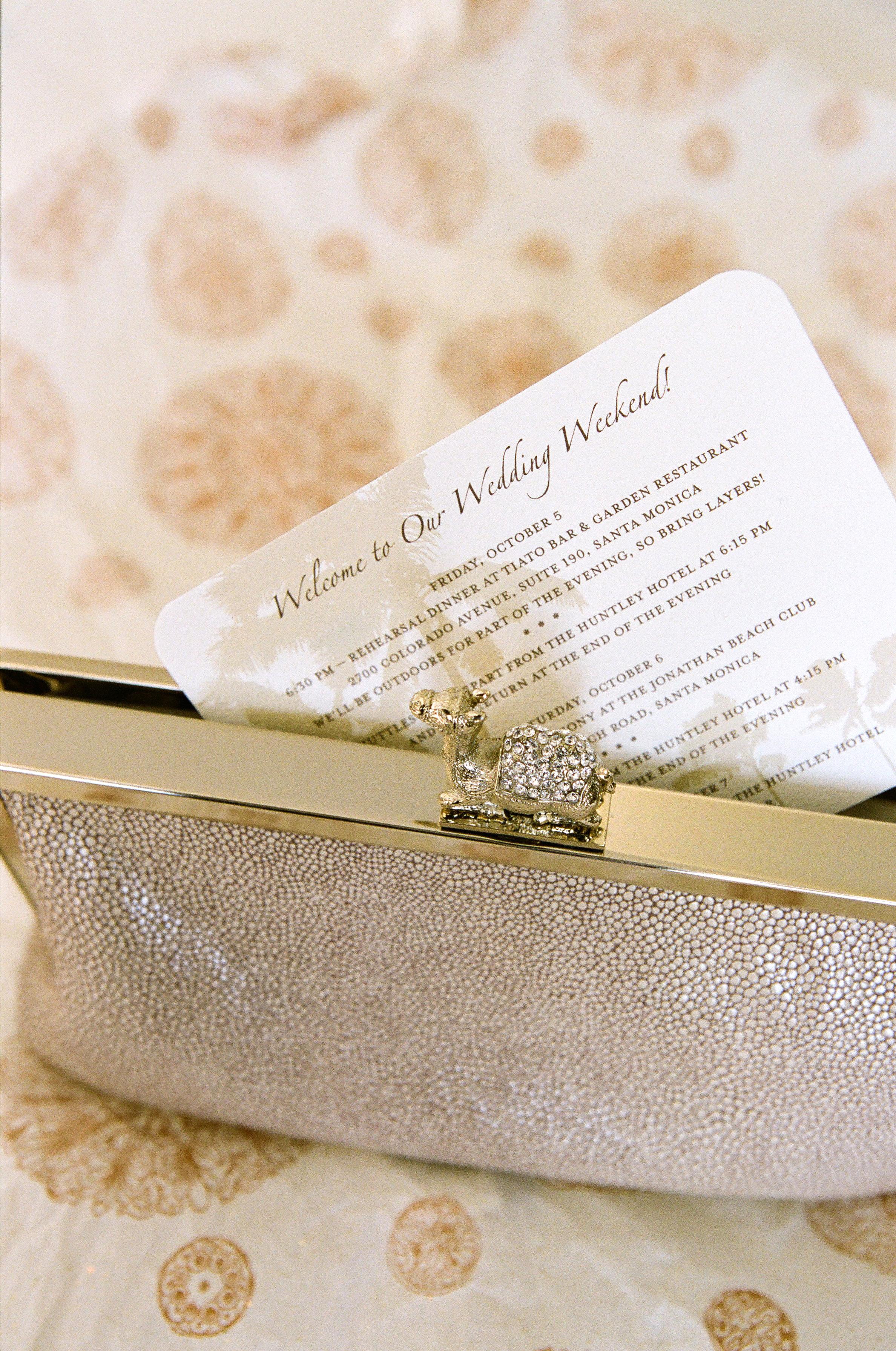 Romantic Pink + Gold Beach Wedding - Kristin Banta Events