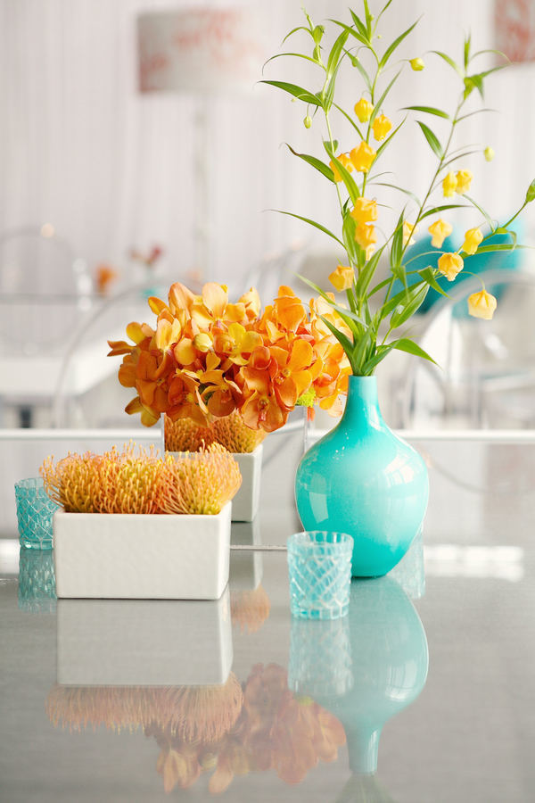 Turquoise & Tangerine Themed Event - A New Leaf Chicago