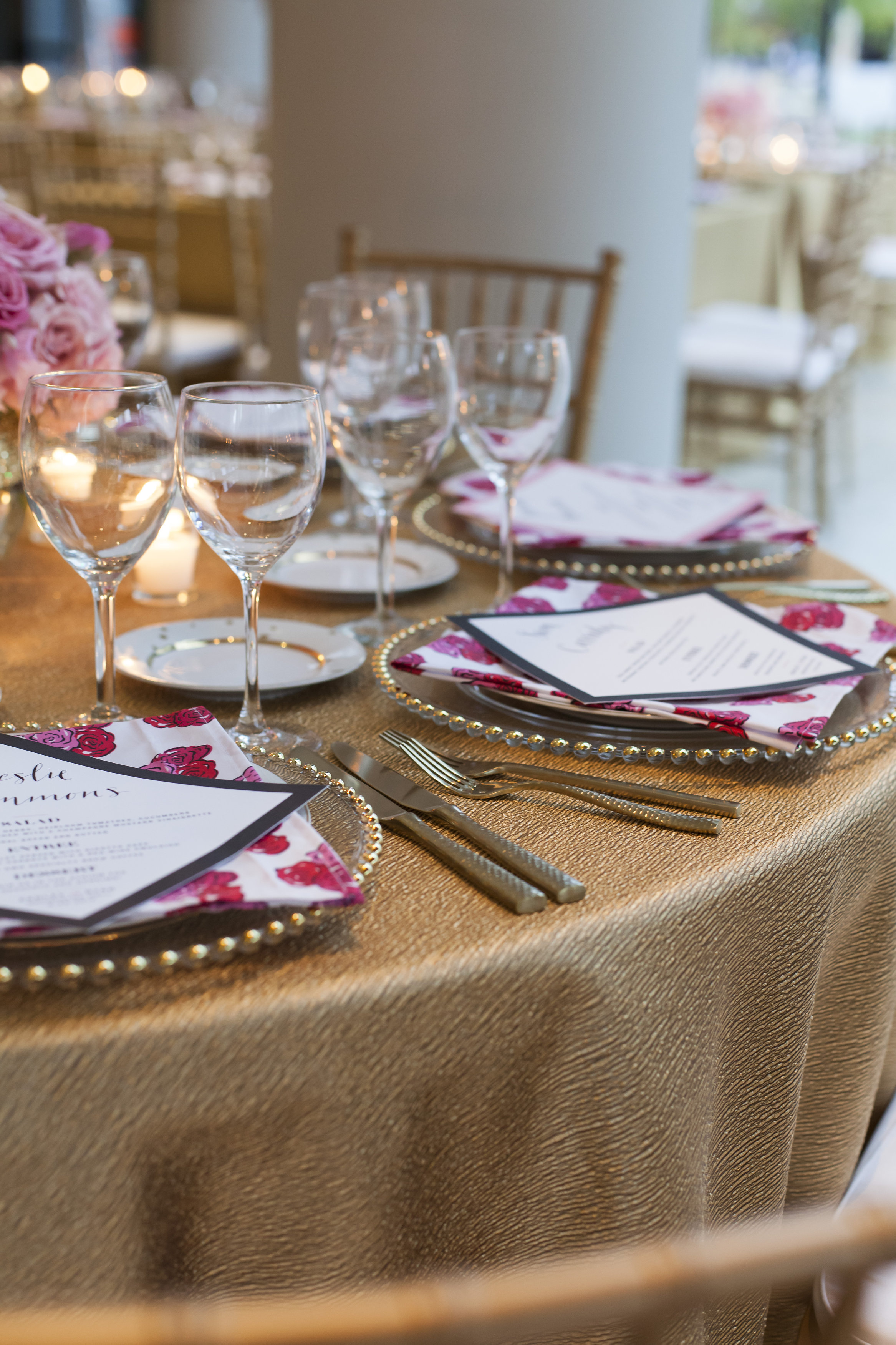 Pink and Gold Wedding - Rocket Science Events