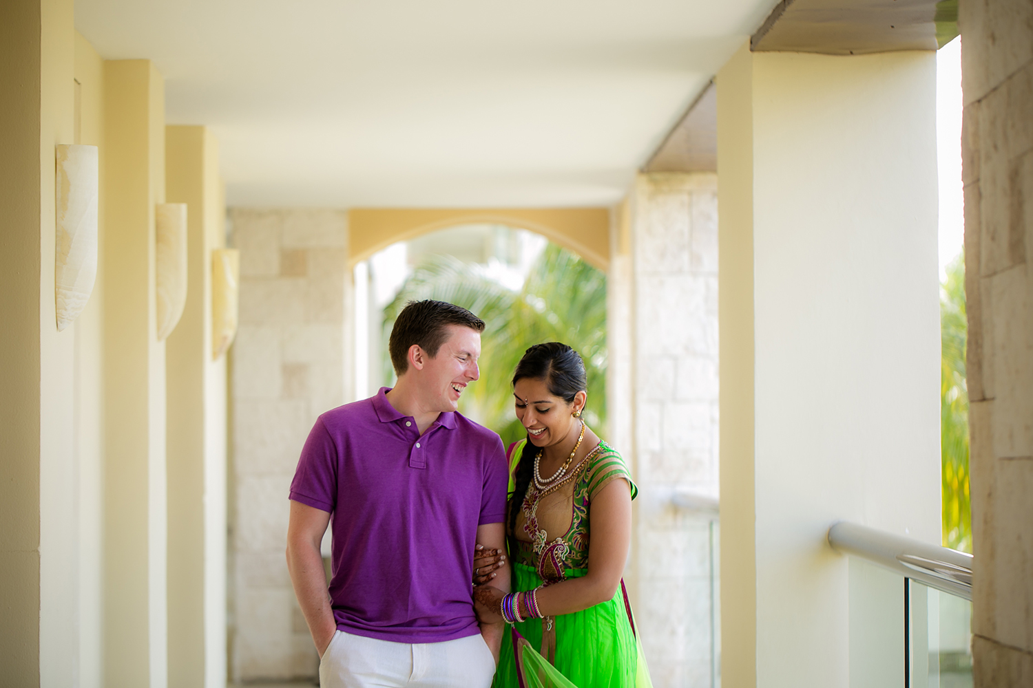 Fun Hindu Beach Wedding - Rebecca Marie Photography