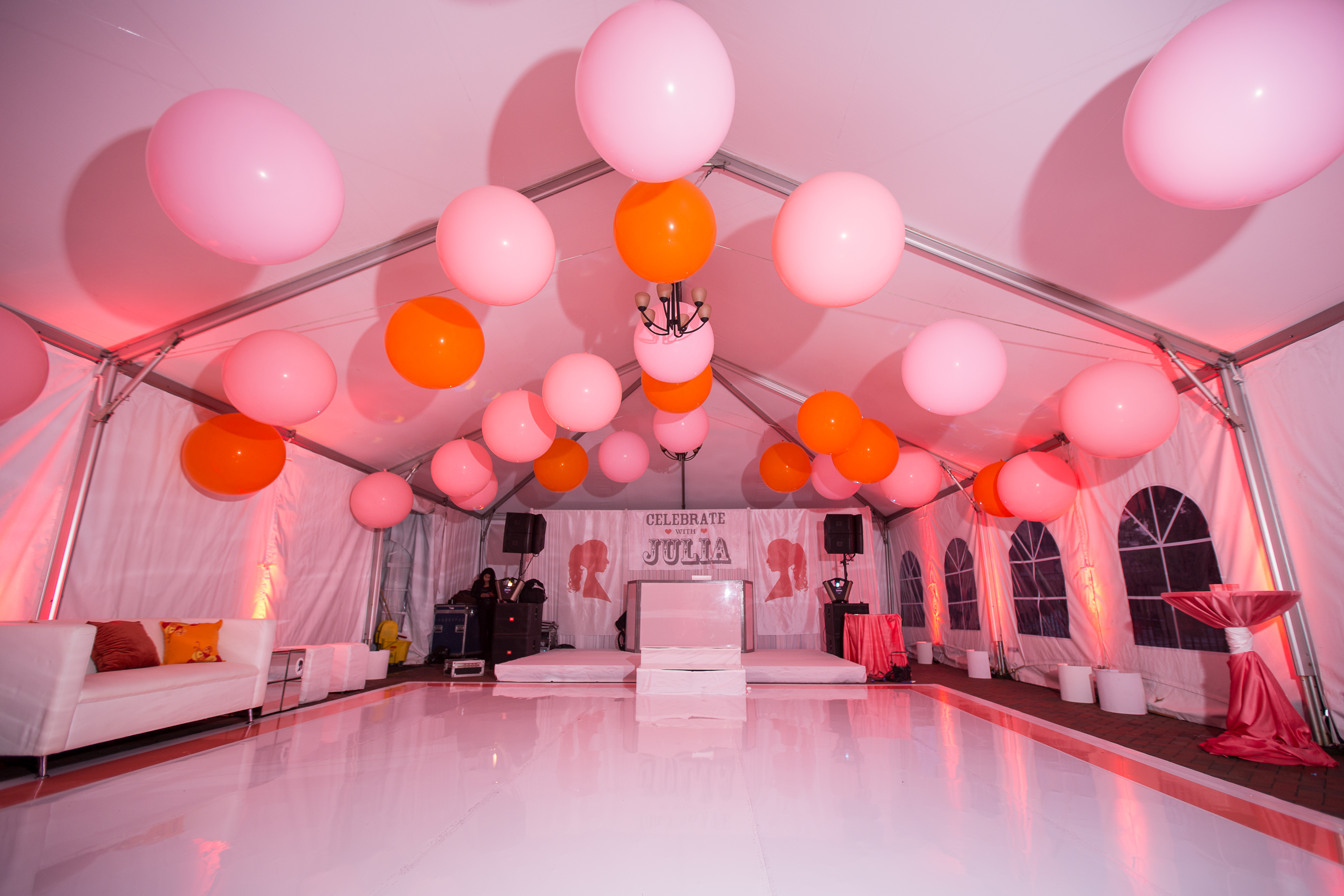 Pink Silhouette Bat Mitzvah - BCR Events