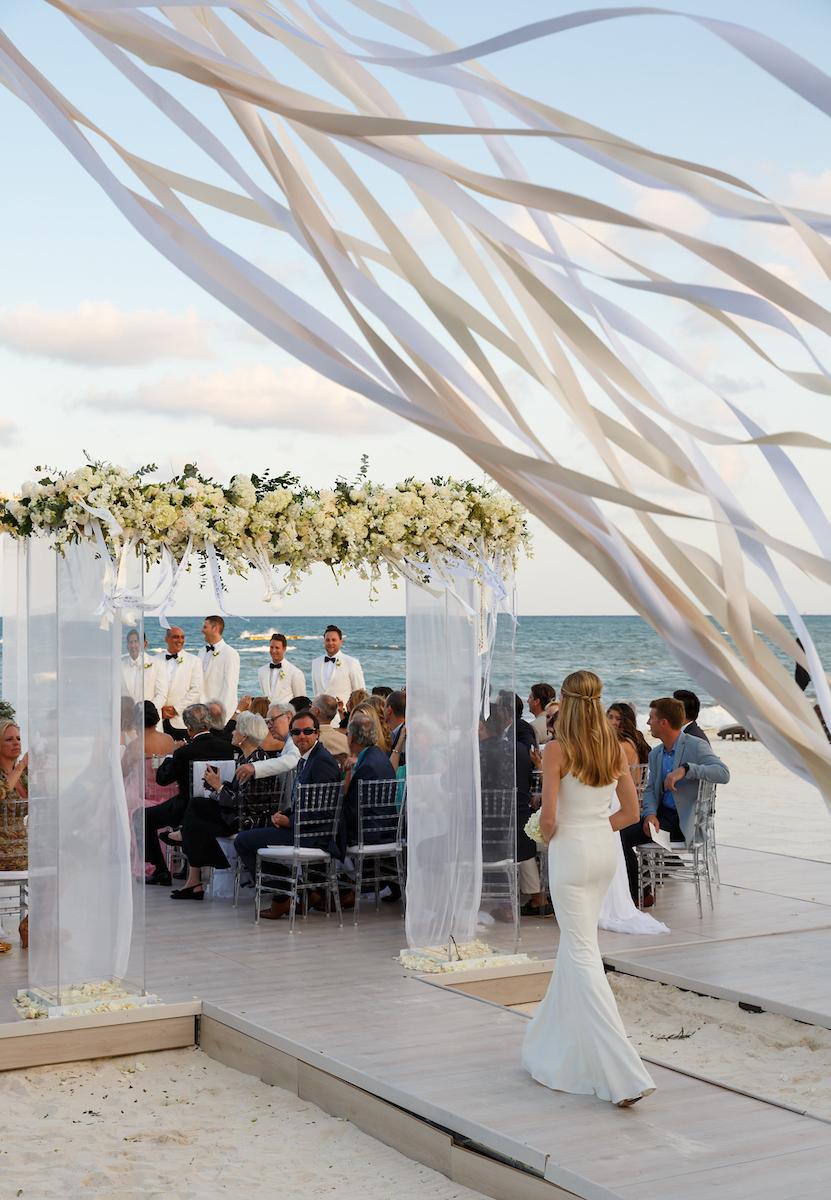 Sleek White Beach Wedding - Colin Cowie Lifestyle