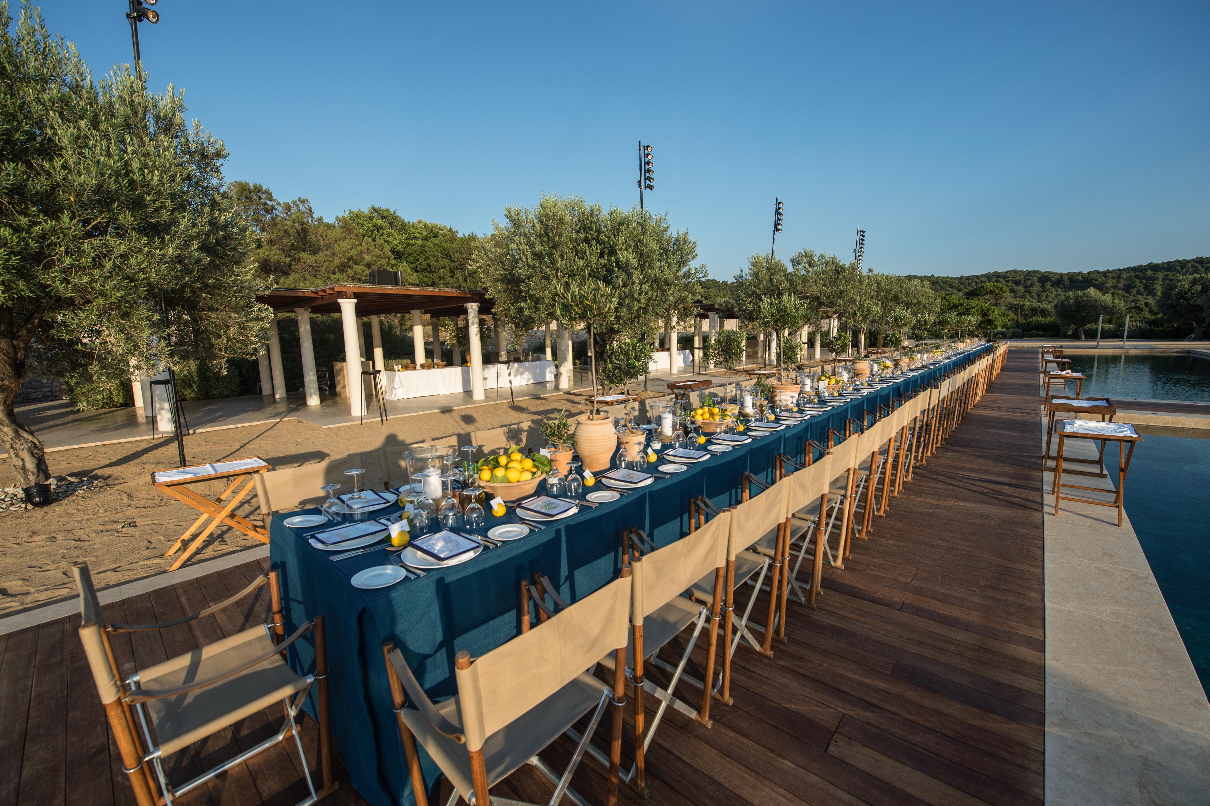 Poolside Birthday Celebration in Greece - David Monn