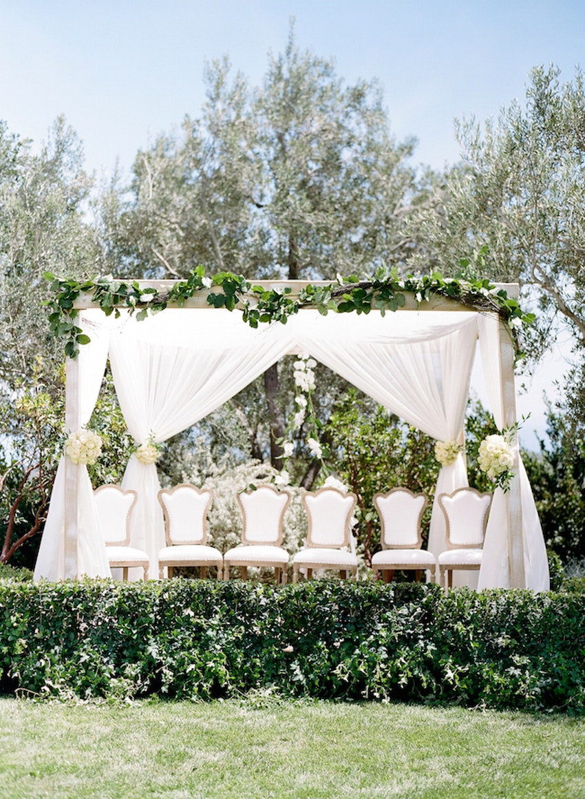 Revelry Event Designers | NURIT AND ADAM\'S ELEGANT IVORY AND GREEN ...