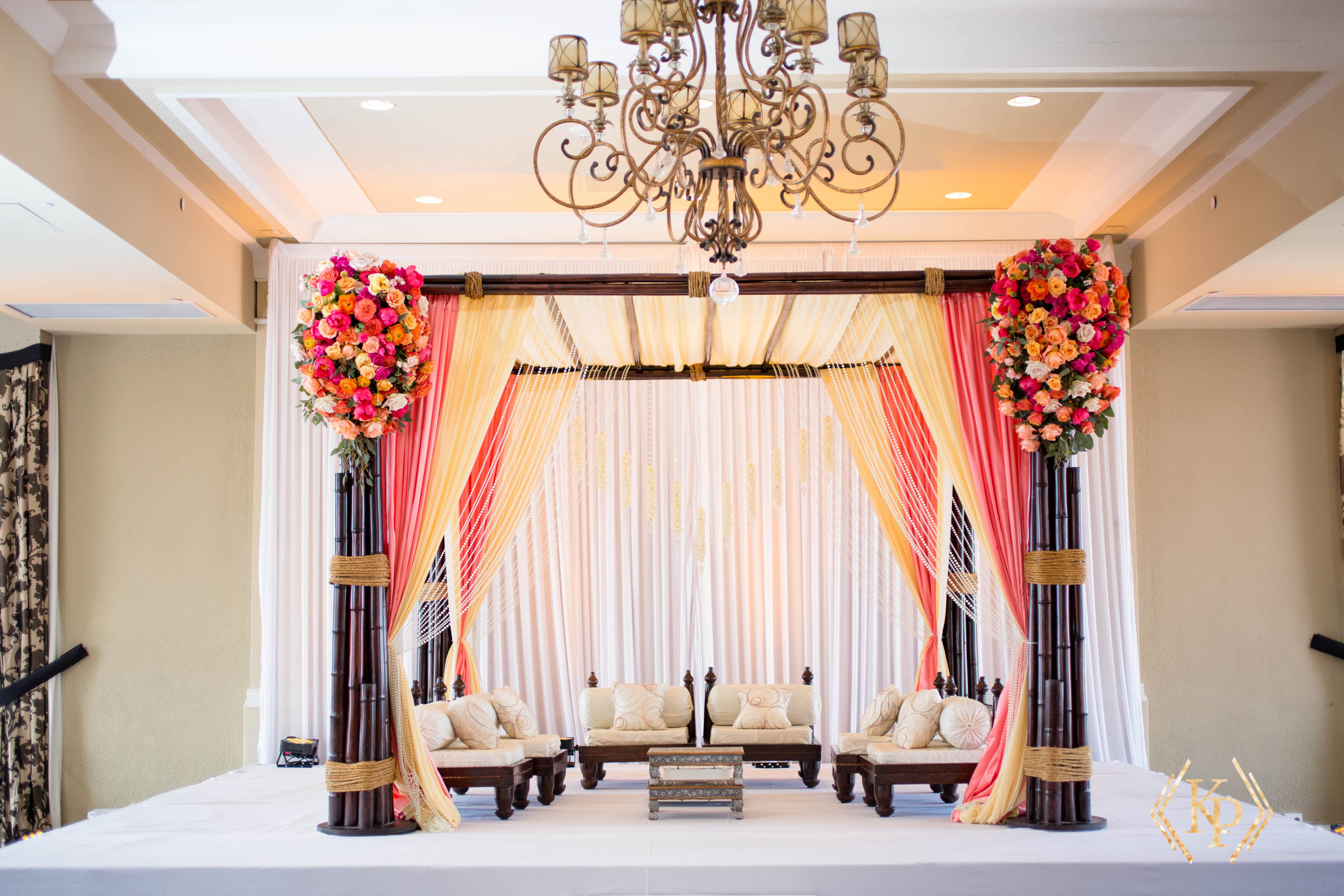 Gorgeous Coral Southeast Asian Wedding - Tracie Domino Events