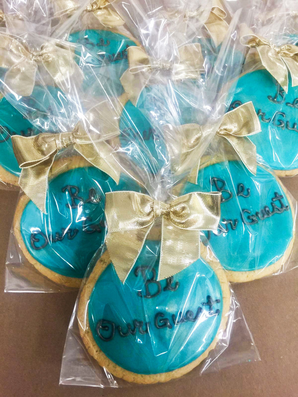 Be our guest cookies for Beauty and the Beast event in Chicago, IL