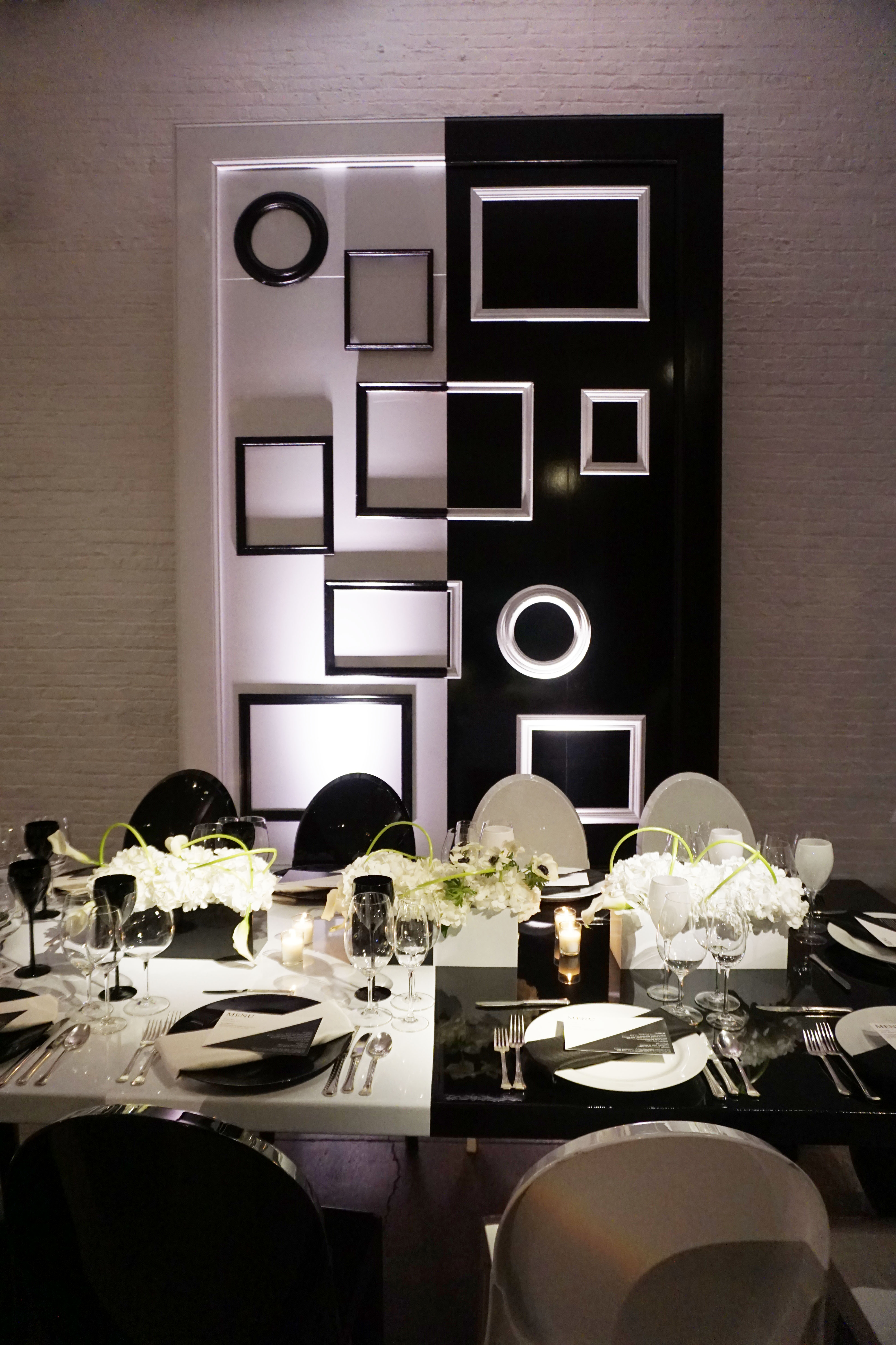 monochromatic corporate dinner - J&L Catering