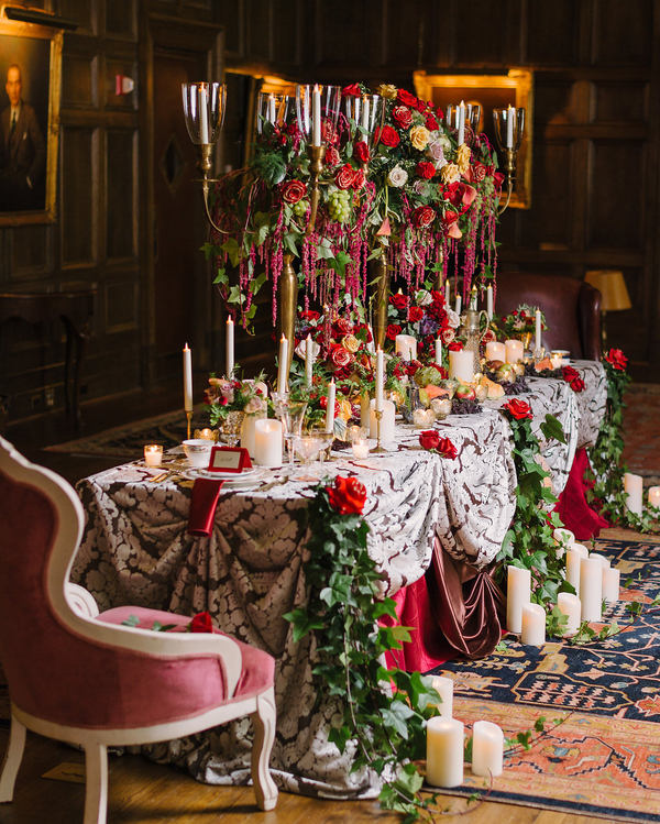 Beauty and the Beast Fairytale Dinner Party - Kirkbrides Wedding Planning & Design