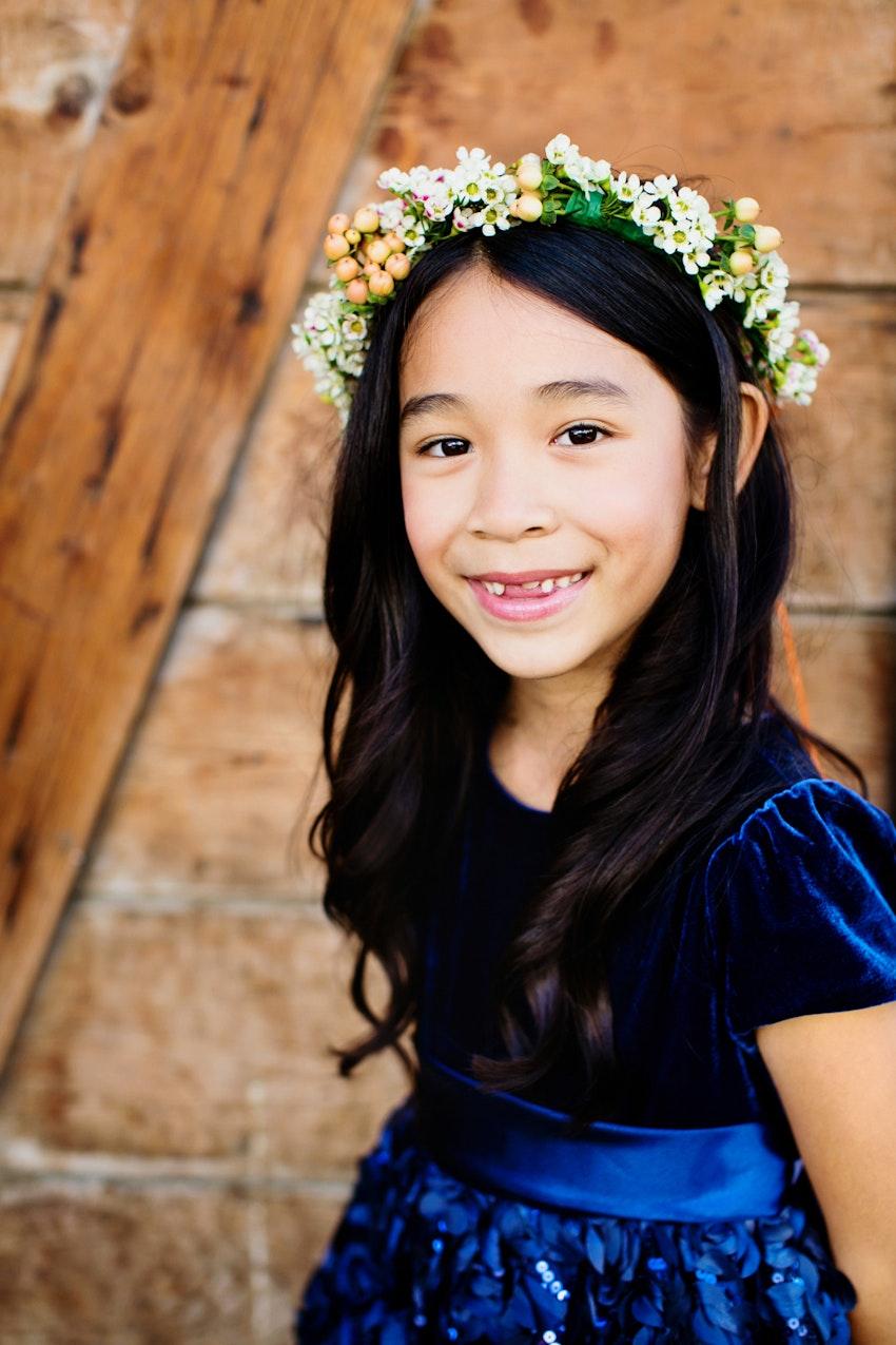 children attendant flower girl