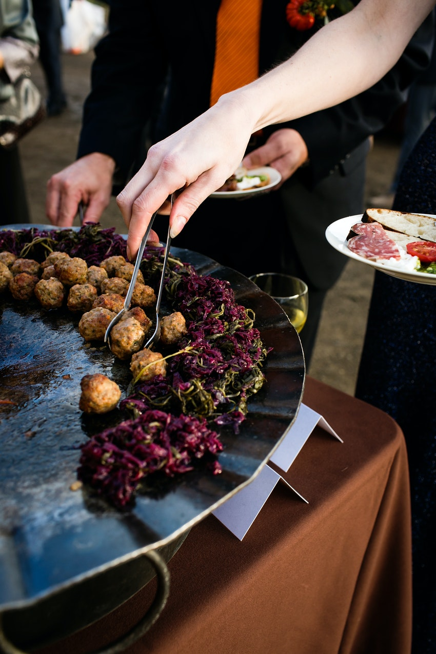 wedding reception, food