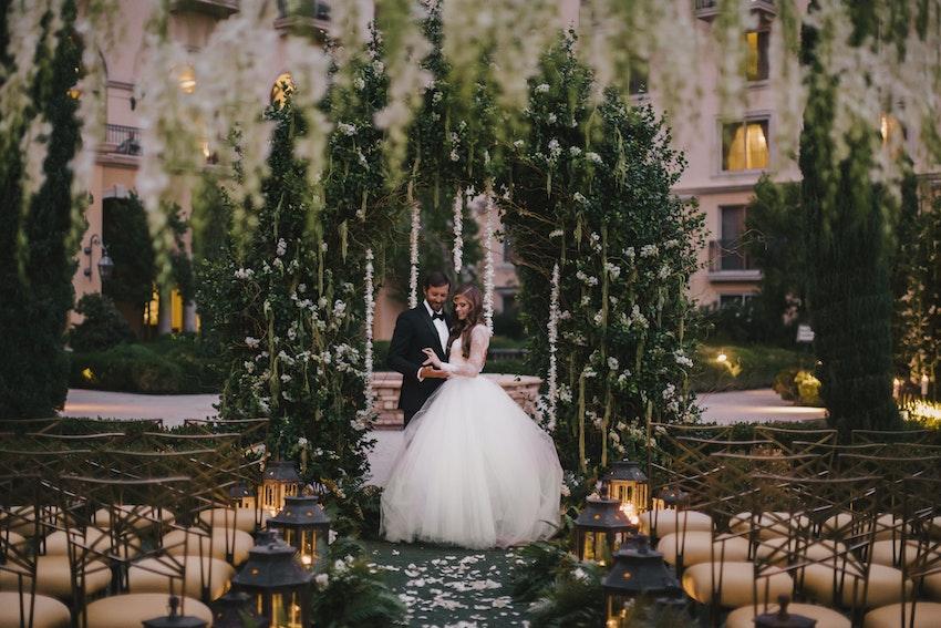 Javier Valentino Designs A Secret Garden Wedding Partyslate