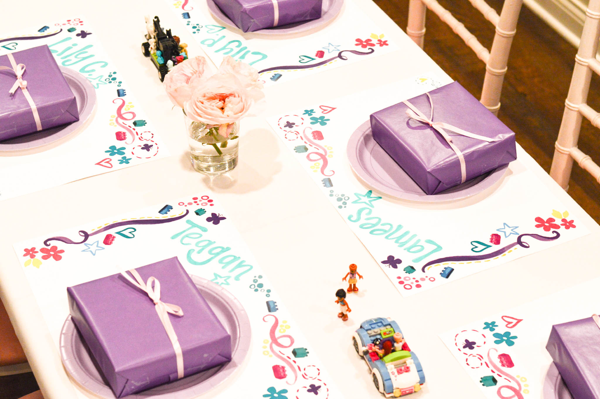 Pink and Purple Lego Friends Party - Wrap It Up Parties