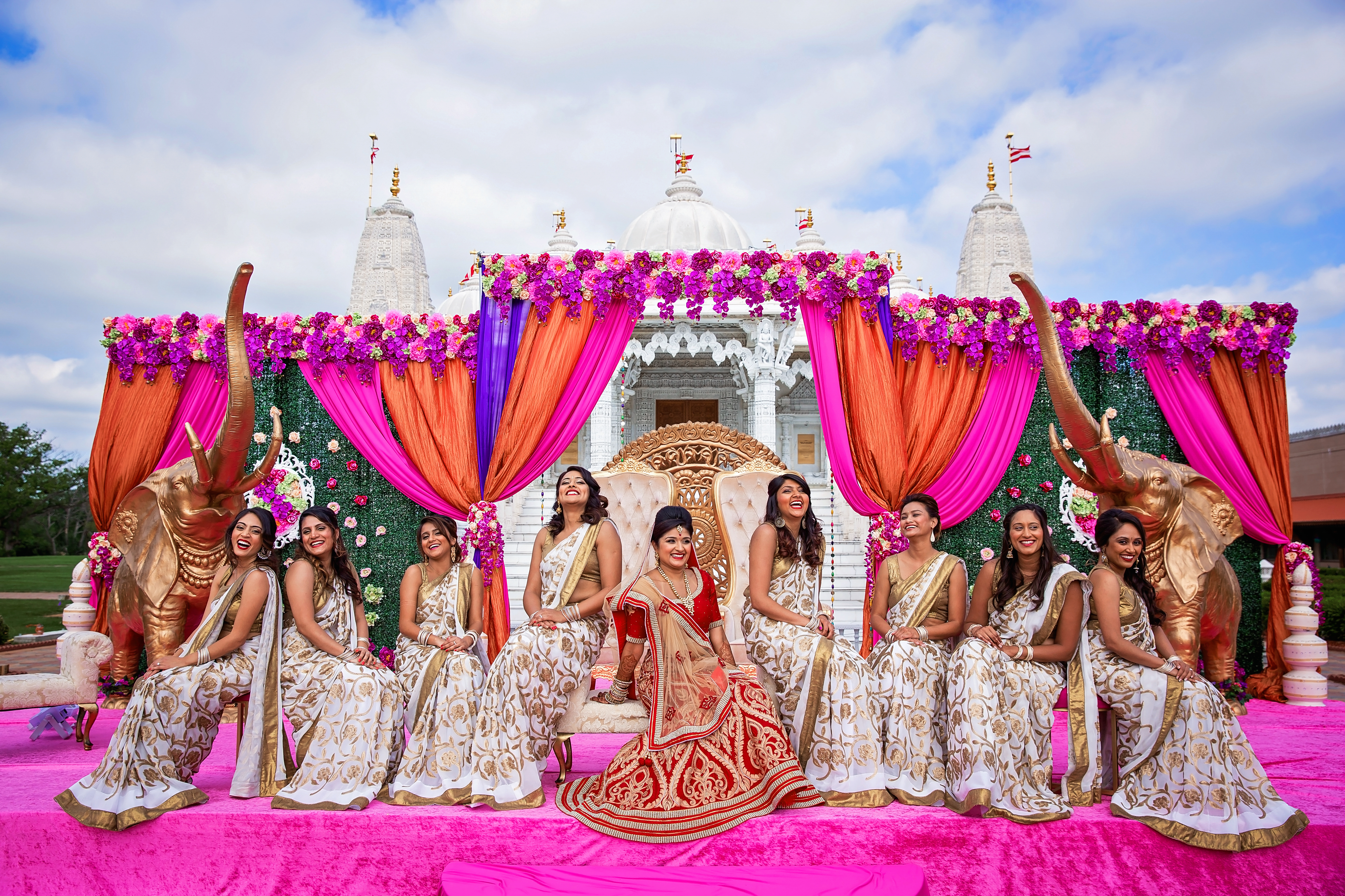 Outdoor Mehndi Party : Elegance decor outdoor hindu south asian wedding ceremony baps