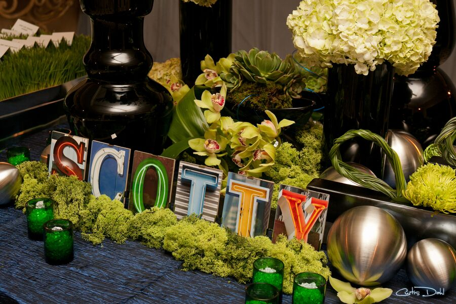 Blue & Green Bar Mitzvah - Linda Howard Events