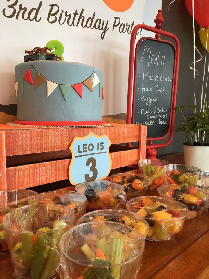 Leo's Cars theme 3rd Birthday - Party to go go