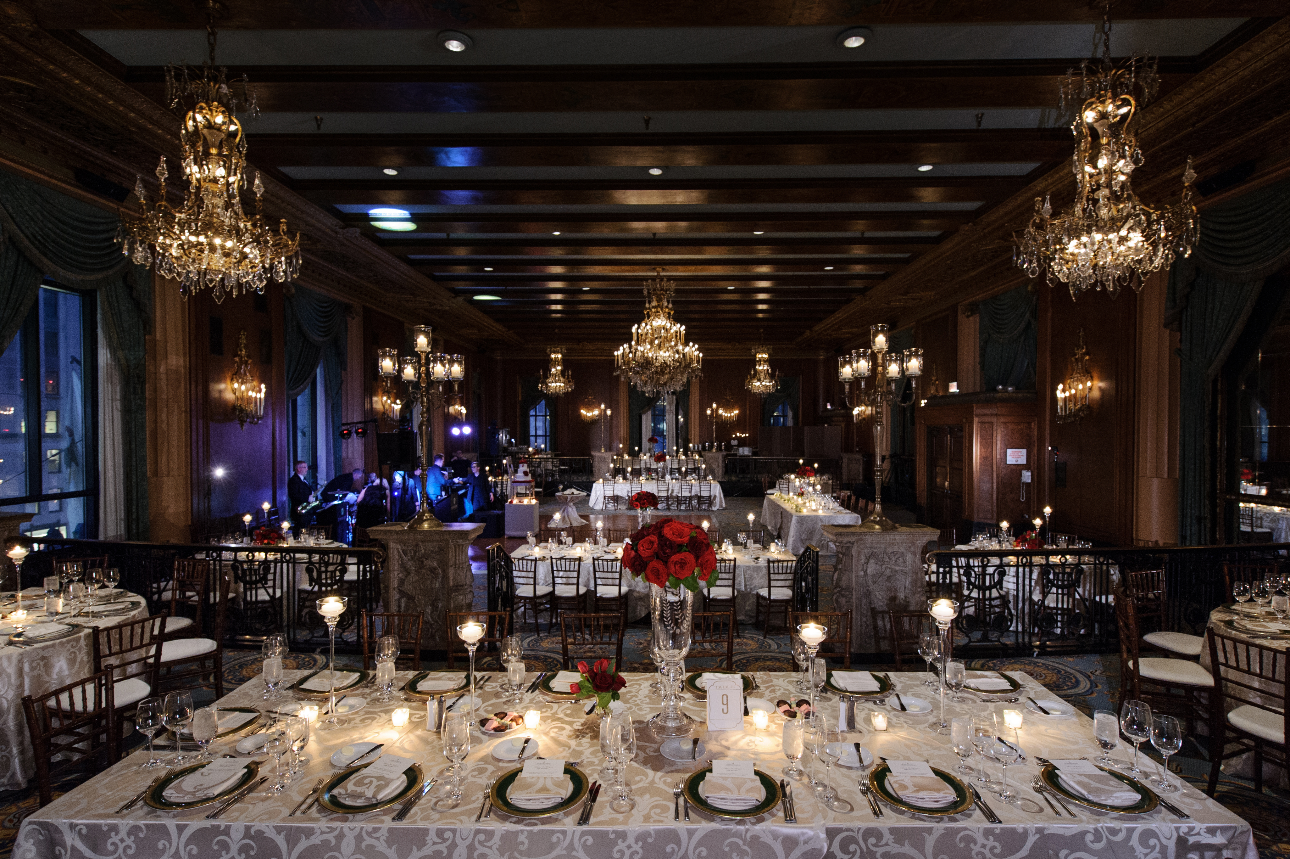Sophisticated and Elegant Intimate Wedding in the Renaissance Ballroom.